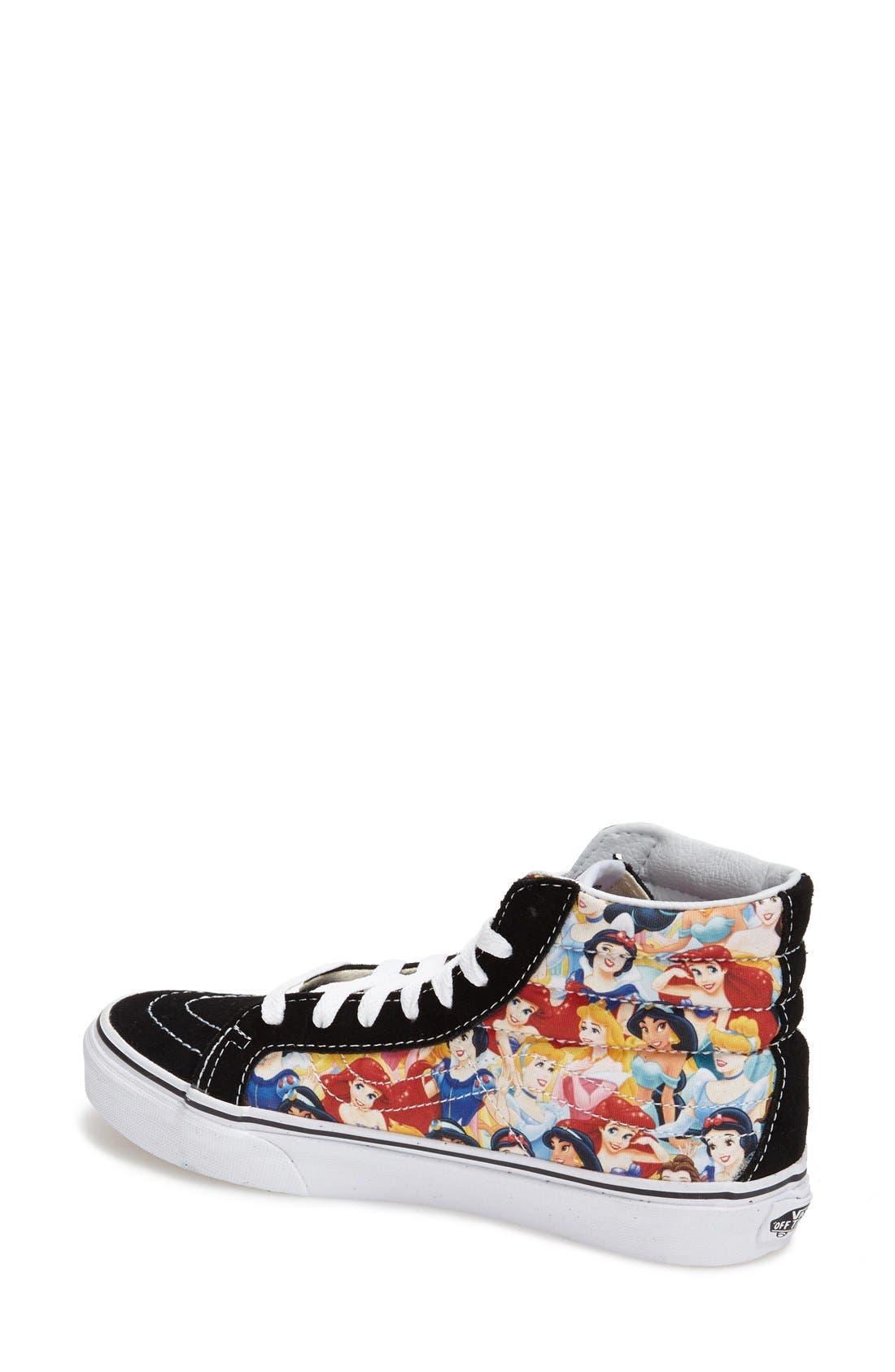 Alternate Image 2  - Vans 'Sk8-Hi Slim - Disney® Princess' Sneaker (Women)