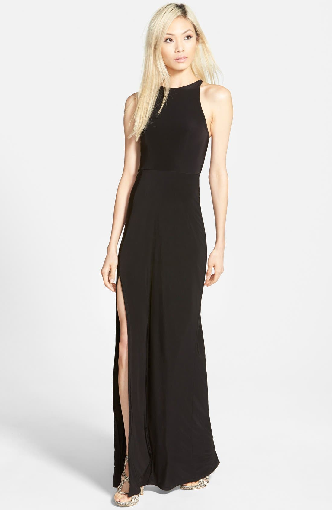 Main Image - Missguided 'Nora' High Neck Maxi Dress