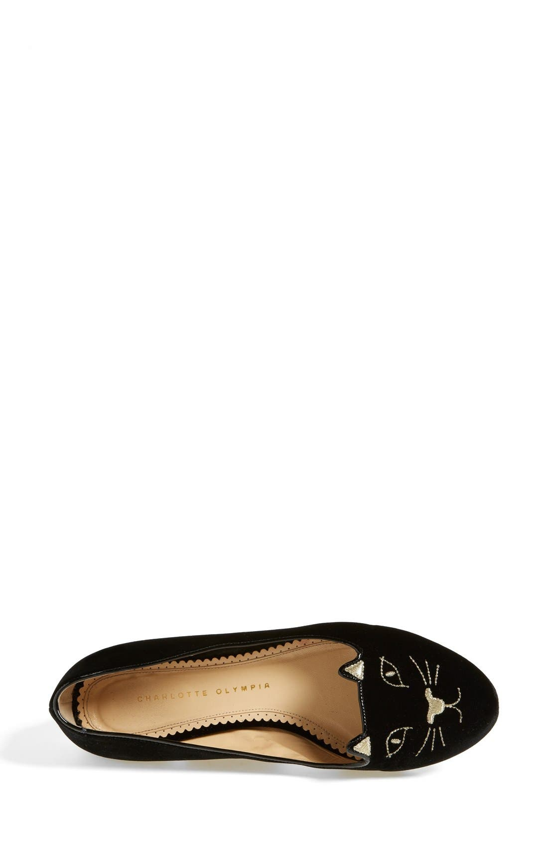 Alternate Image 3  - Charlotte Olympia 'Kitty' Flat (Women)