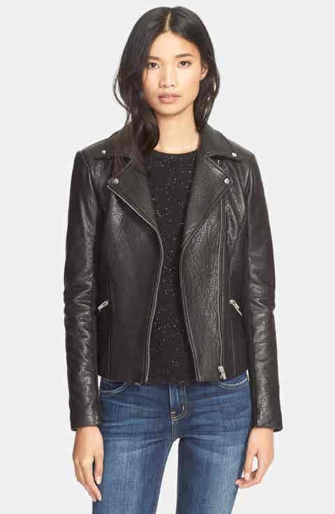 Veda Dallas Lambskin Leather Jacket