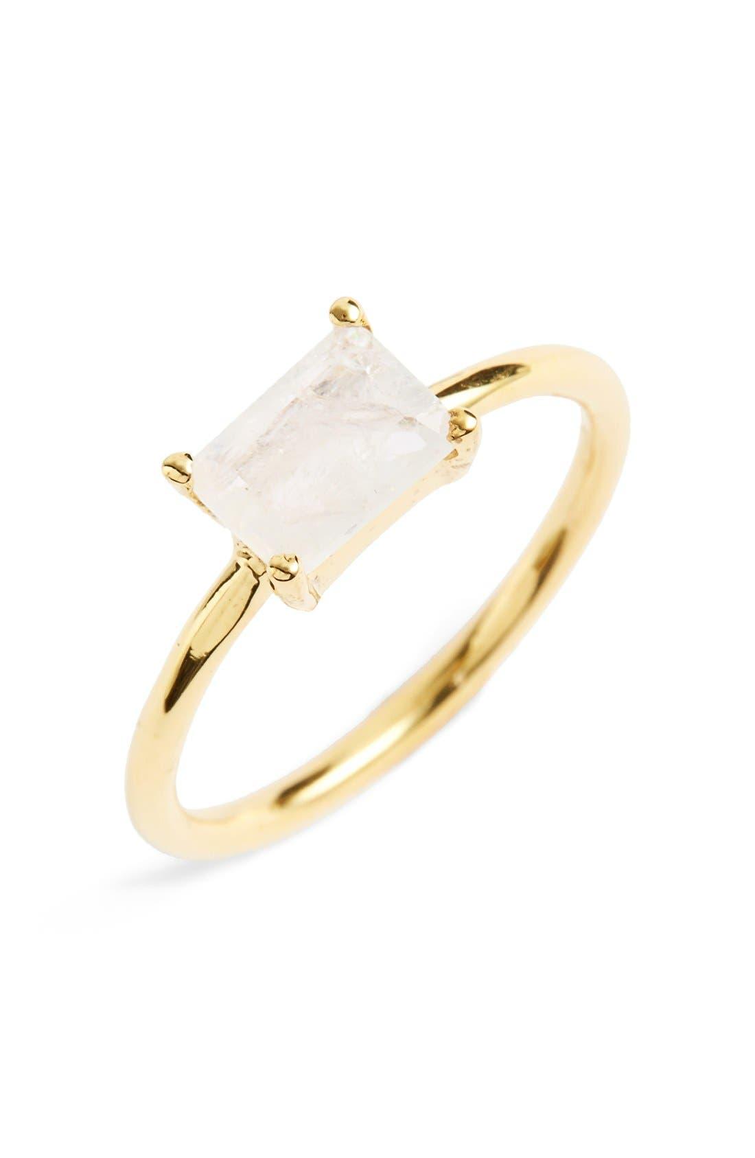 Leah Alexandra Baguette Stone Ring