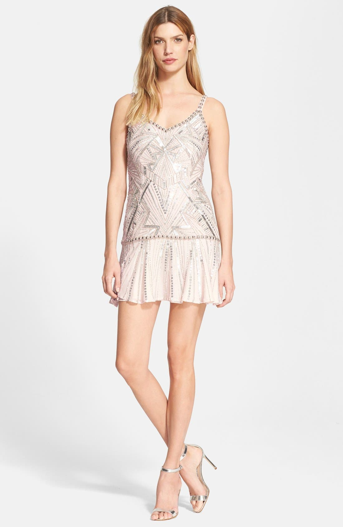 Alternate Image 1 Selected - Parker 'Devany' Beaded Drop Waist Dress