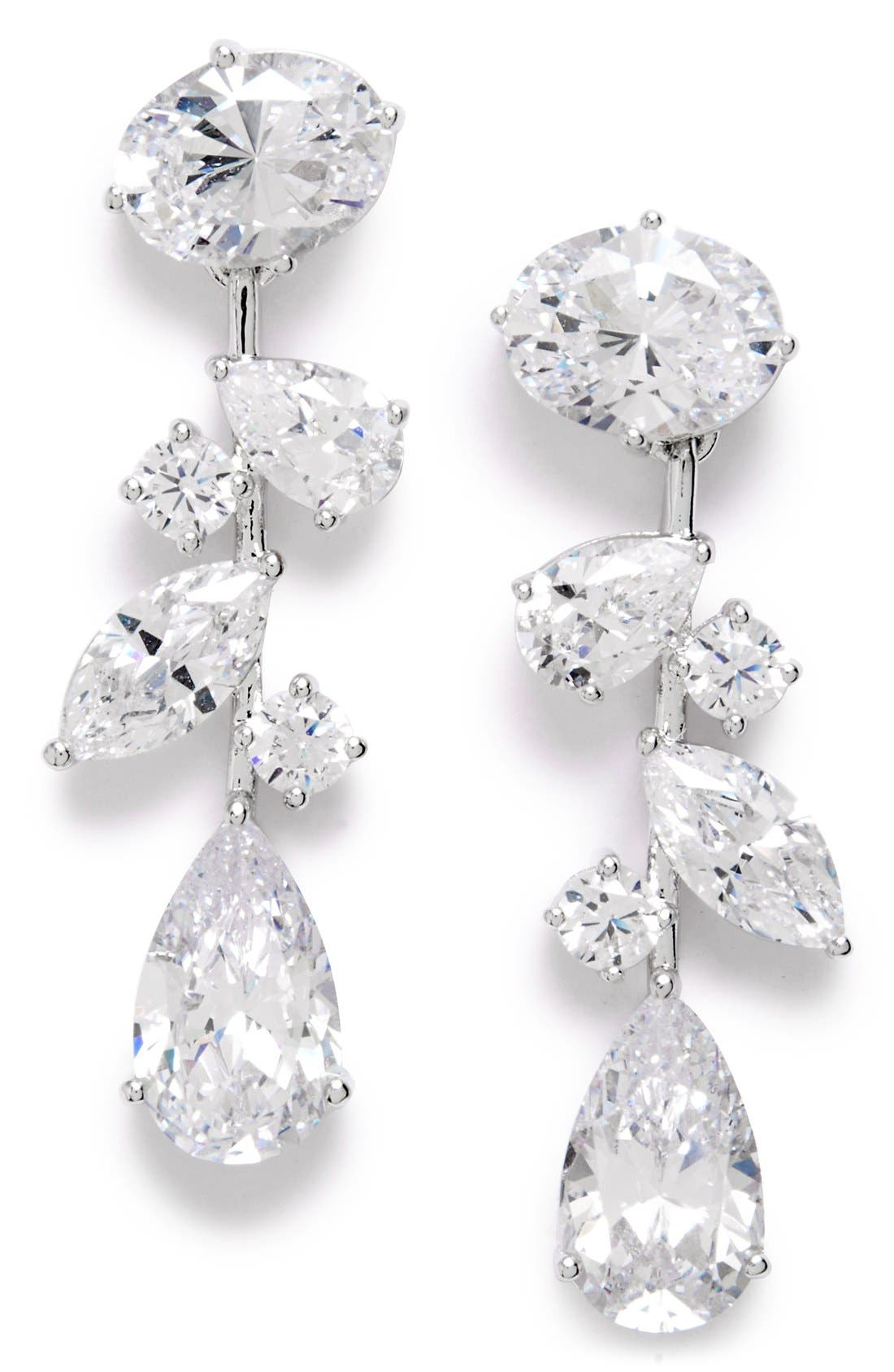 Alternate Image 1 Selected - Nadri Cubic Zirconia Linear Earrings