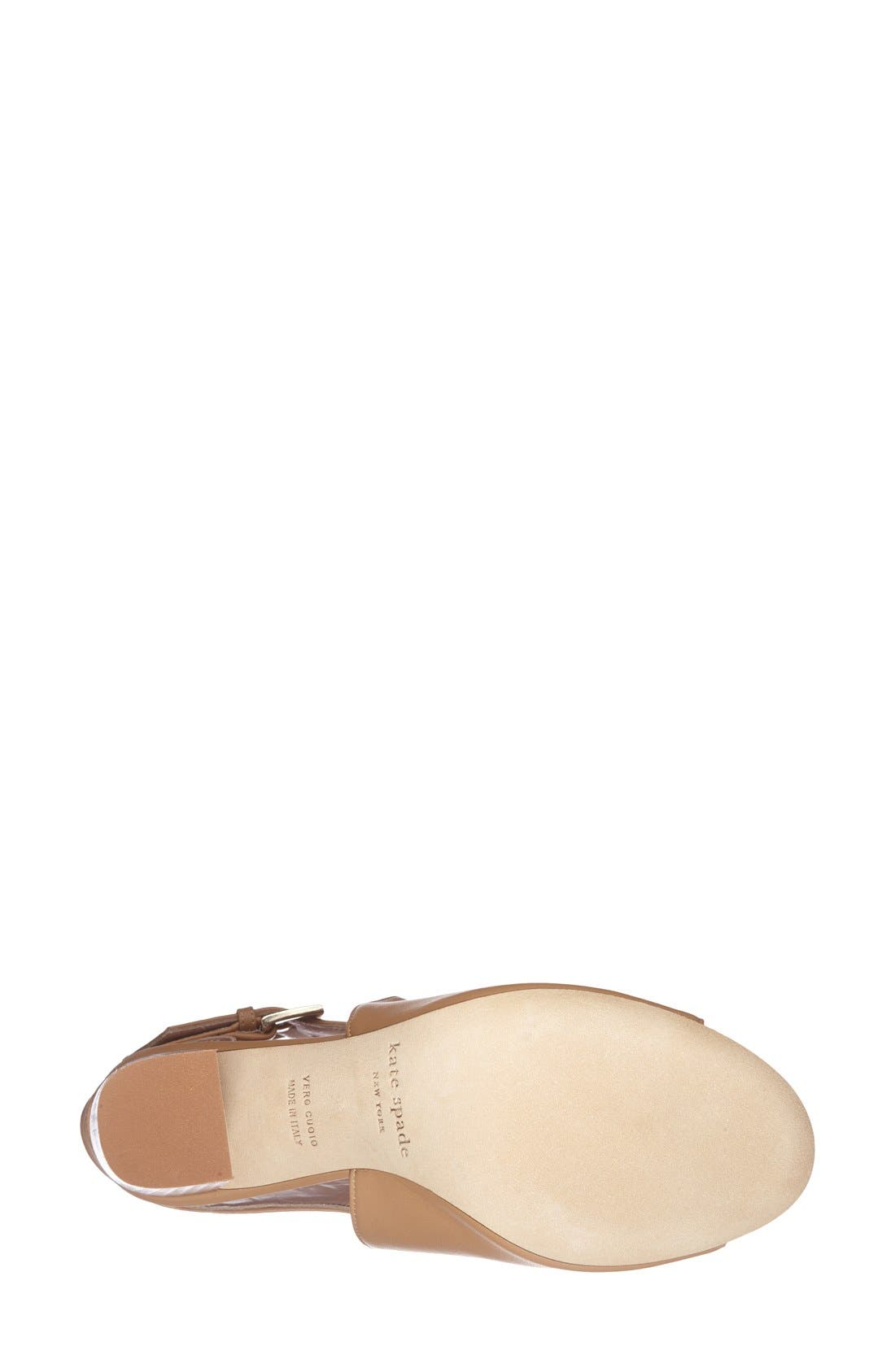 Alternate Image 4  - kate spade new york 'ingrada' slingback sandal (Women)