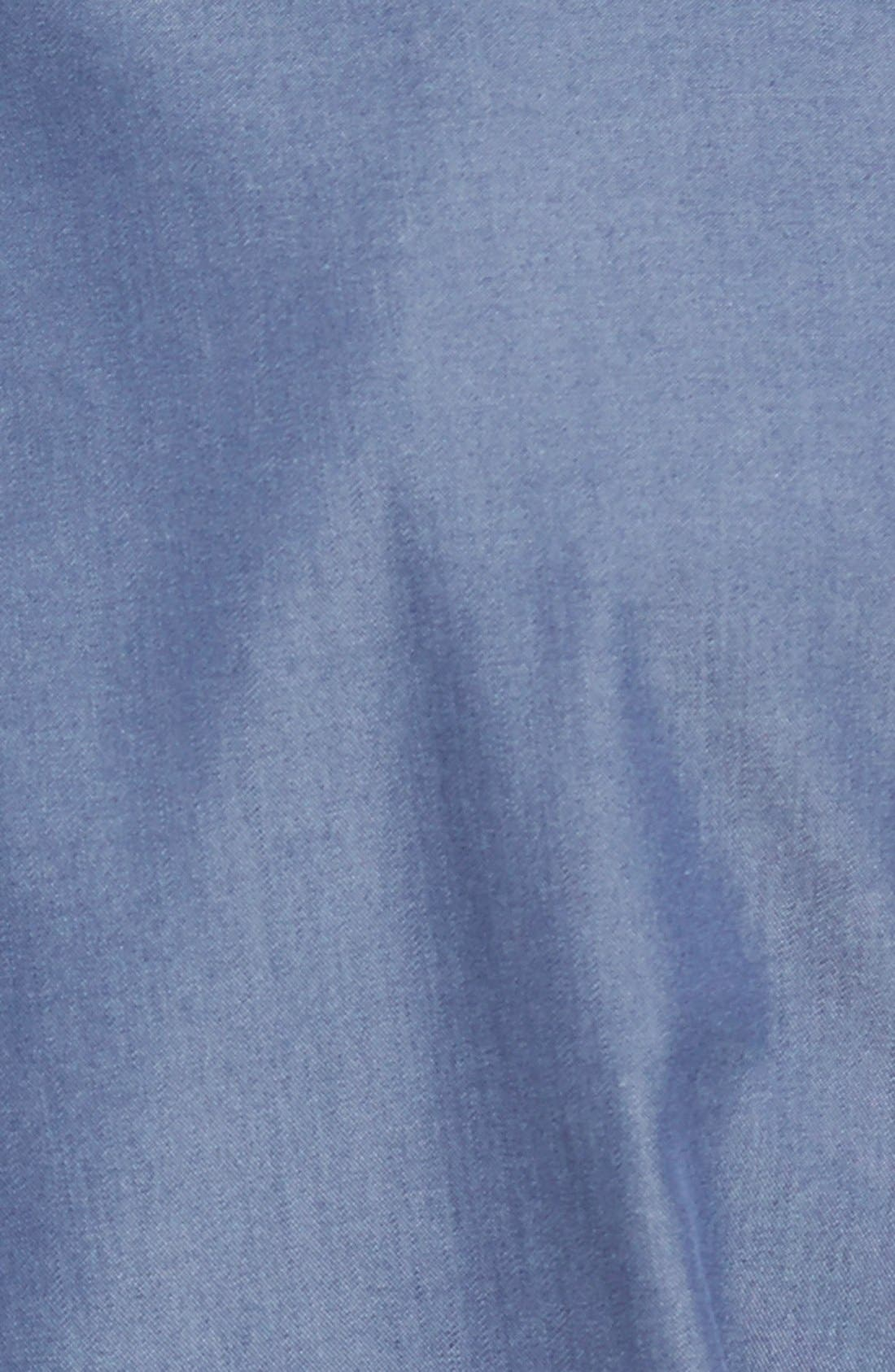 Alternate Image 3  - Nordstrom Men's Shop Smartcare™ Regular Fit Twill Denim Boat Shirt (Regular & Tall)
