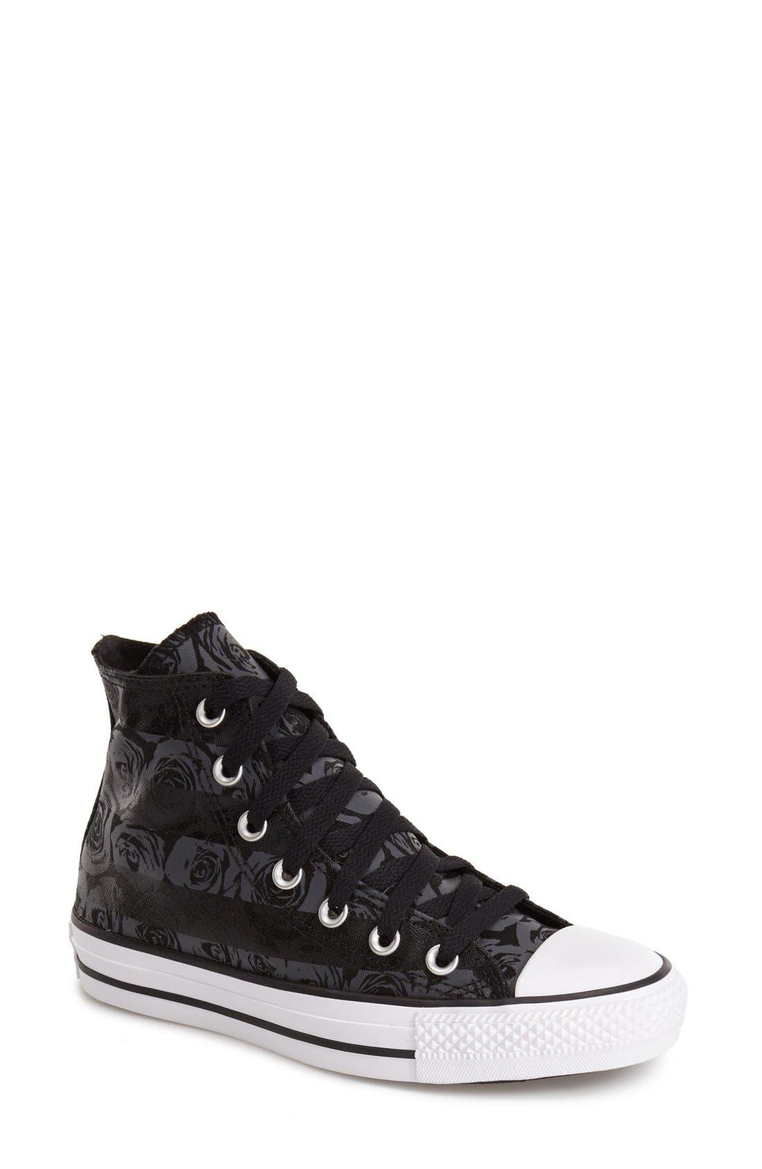 Alternate Image 1 Selected - Converse Chuck Taylor® All Star® Rose Print High Top Sneaker (Women)