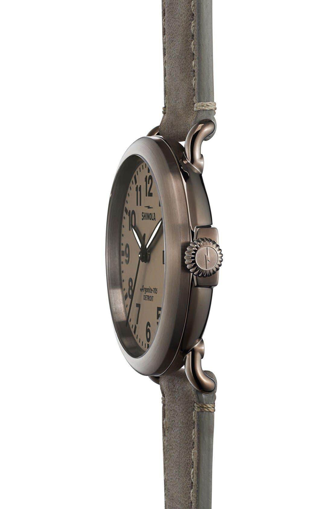Alternate Image 3  - Shinola 'Runwell' Leather Strap Watch, 41mm