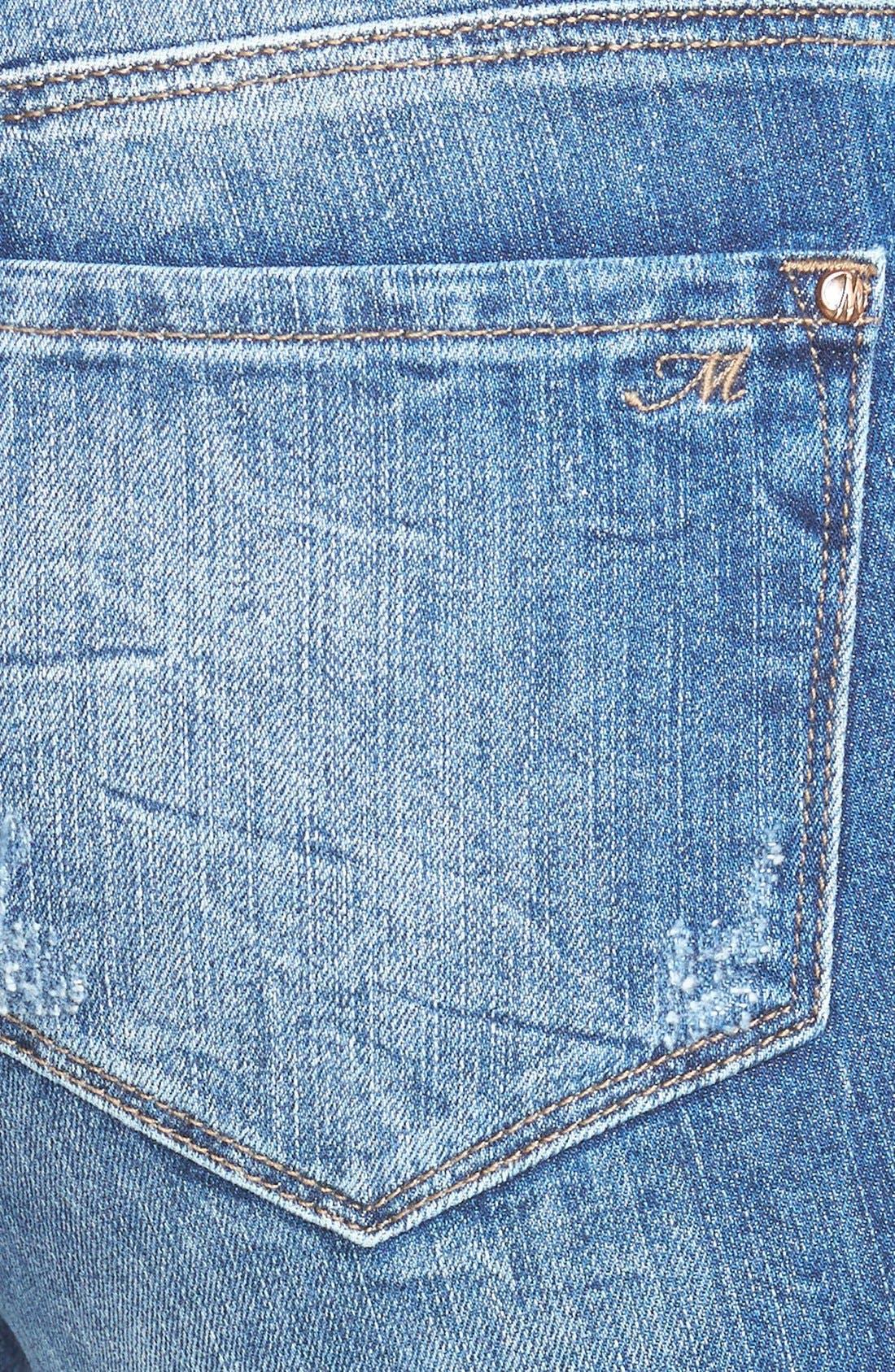 Alternate Image 3  - Mavi Jeans 'Alexa' Distressed Stretch Skinny Jeans (Mid Patched Vintage)