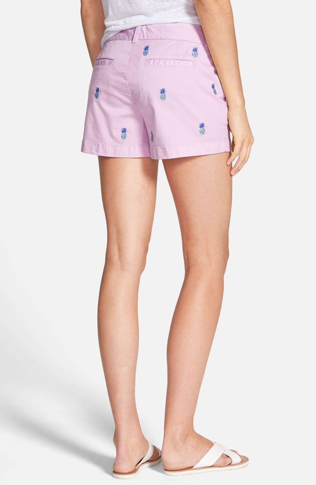 Alternate Image 2  - Vineyard Vines Pineapple Embroidered Shorts