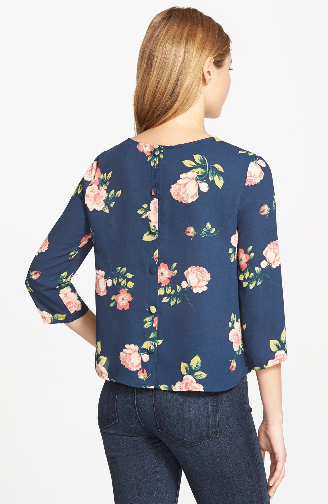 Alternate Image 2  - cupcakes and cashmere 'Huntington' Button Back Top (Nordstrom Exclusive)