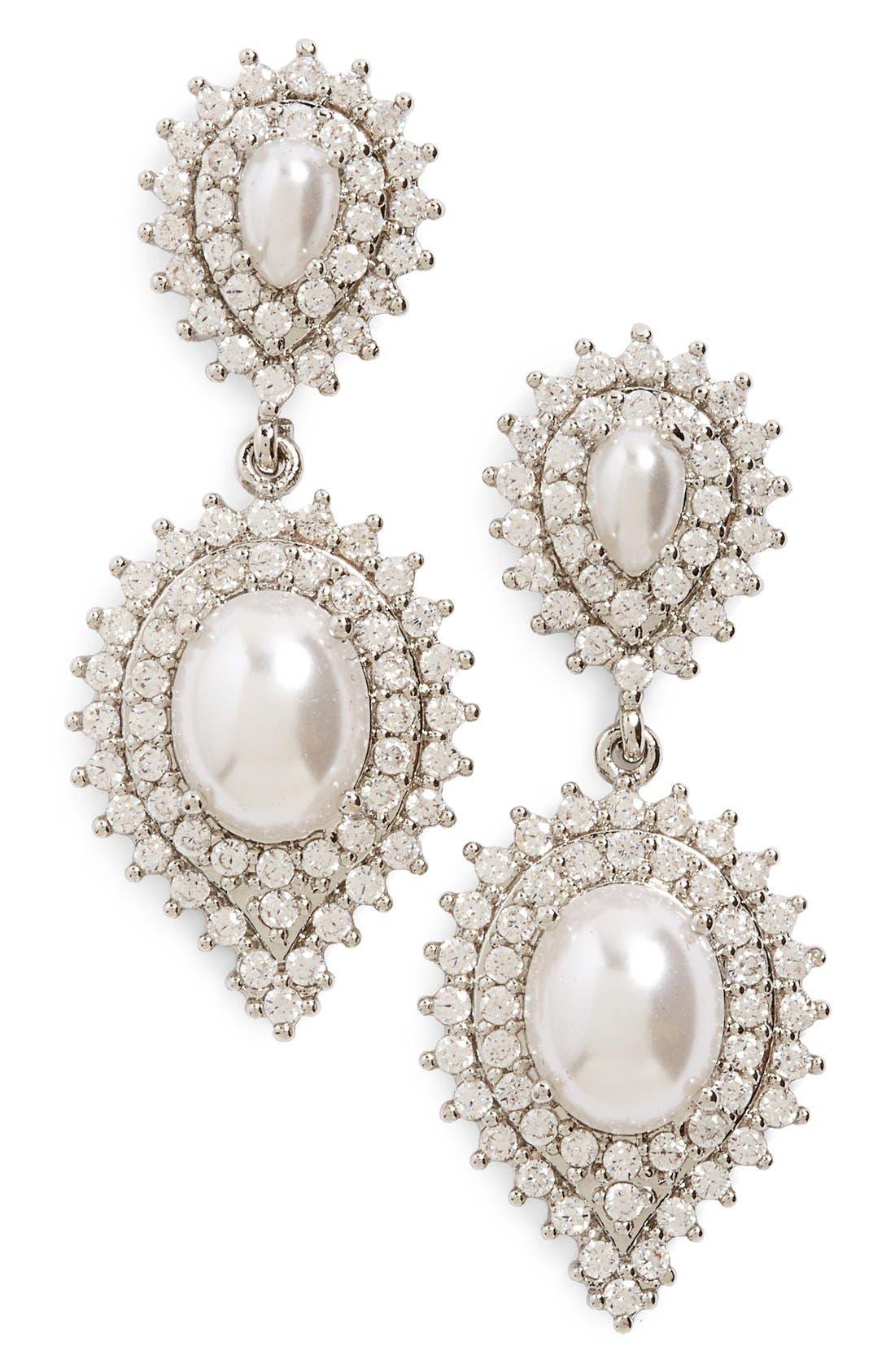 Alternate Image 1 Selected - Samantha Wills 'Velvet Nights' Faux-Pearl Drop Earrings