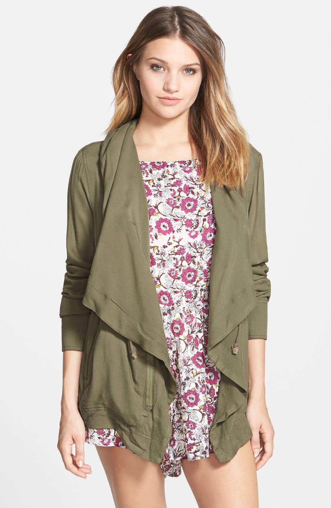 Alternate Image 1 Selected - Billabong 'On the Horizon' Drapey Jacket (Juniors)
