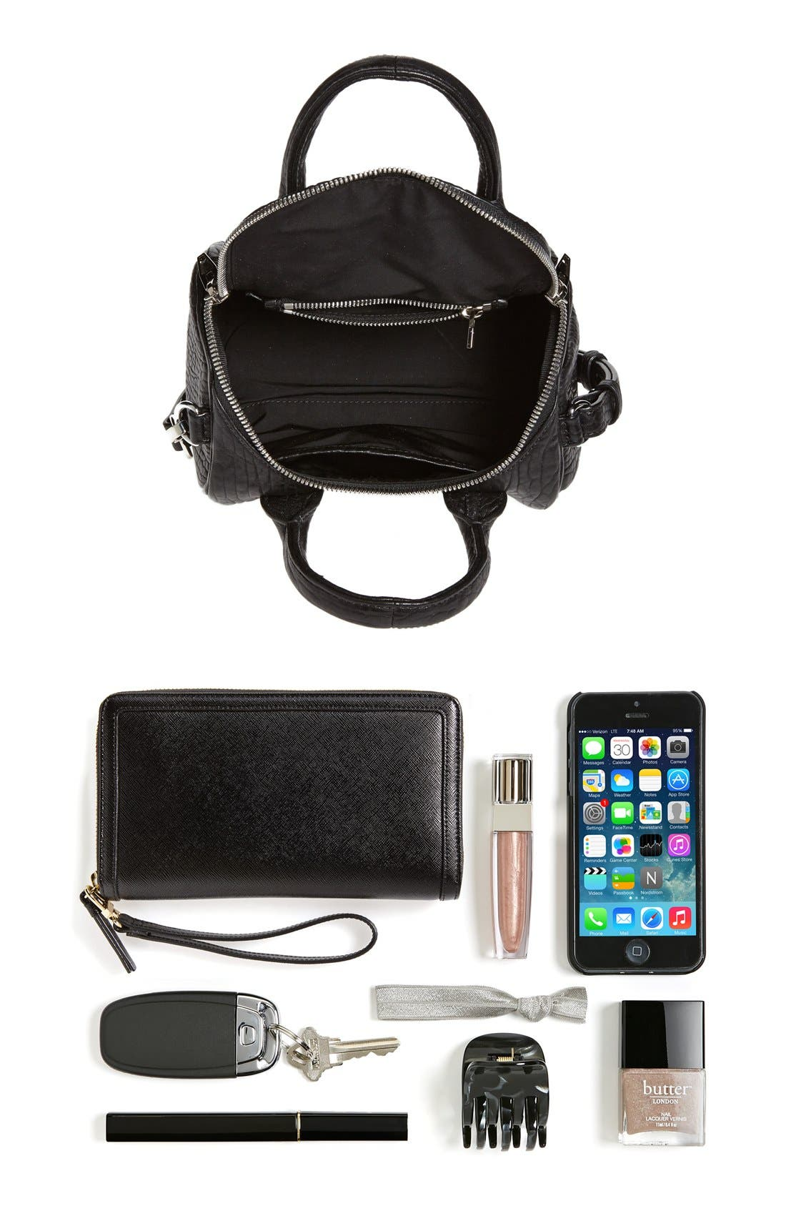 Alternate Image 4  - Alexander Wang 'Mini Rockie - Nickel' Leather Crossbody Satchel