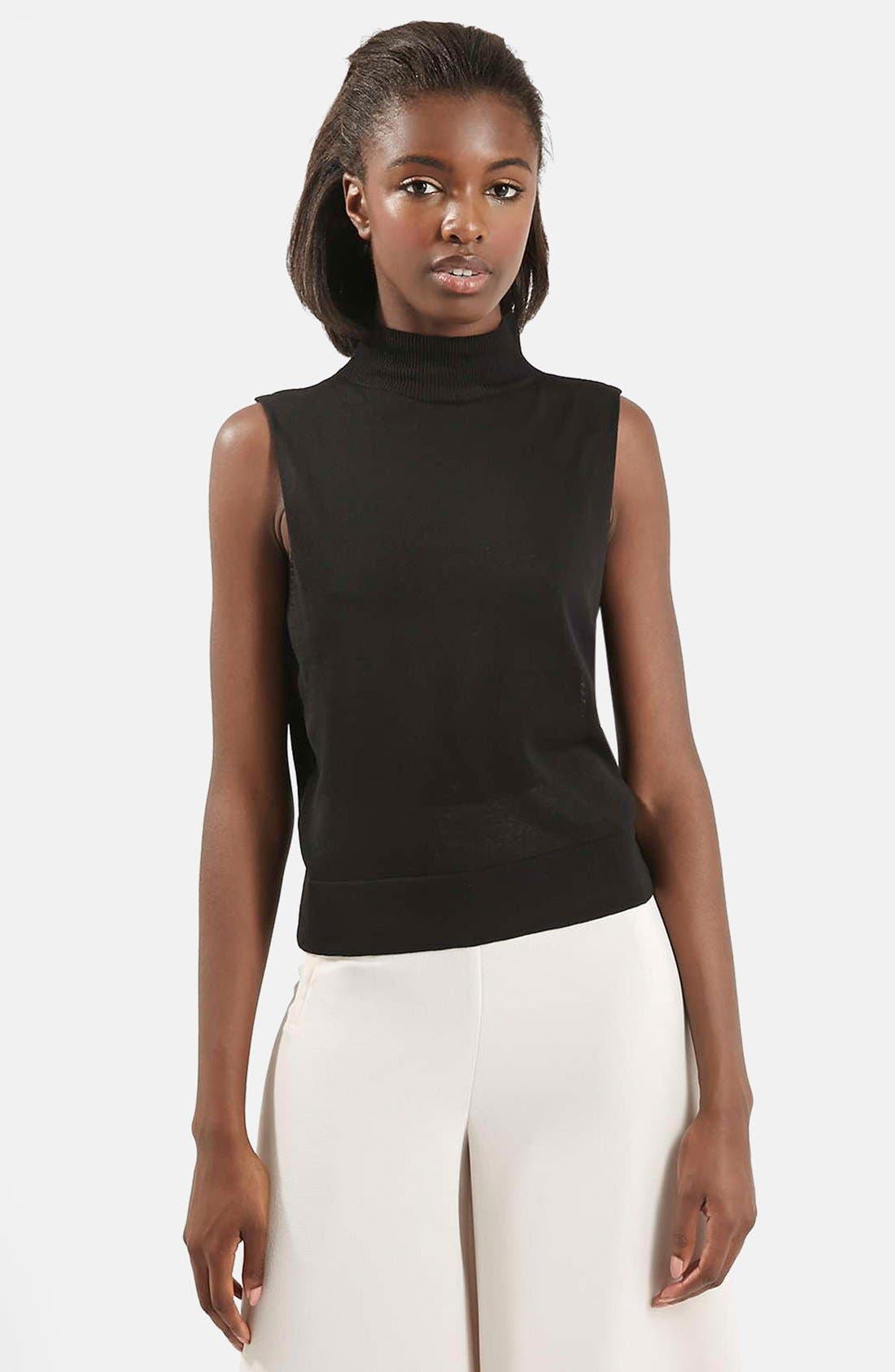 Alternate Image 1 Selected - Topshop Sleeveless Turtleneck Top