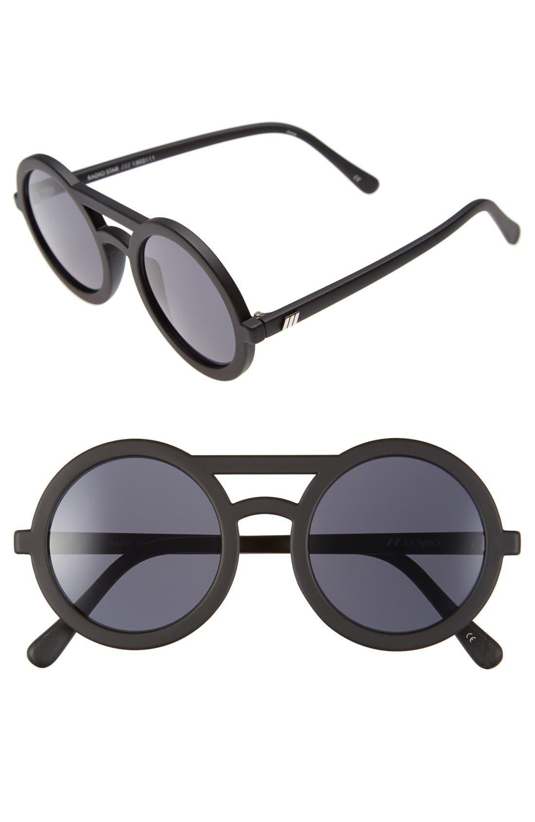 Alternate Image 1 Selected - Le Specs 'Radio Star' 50mm Round Sunglasses