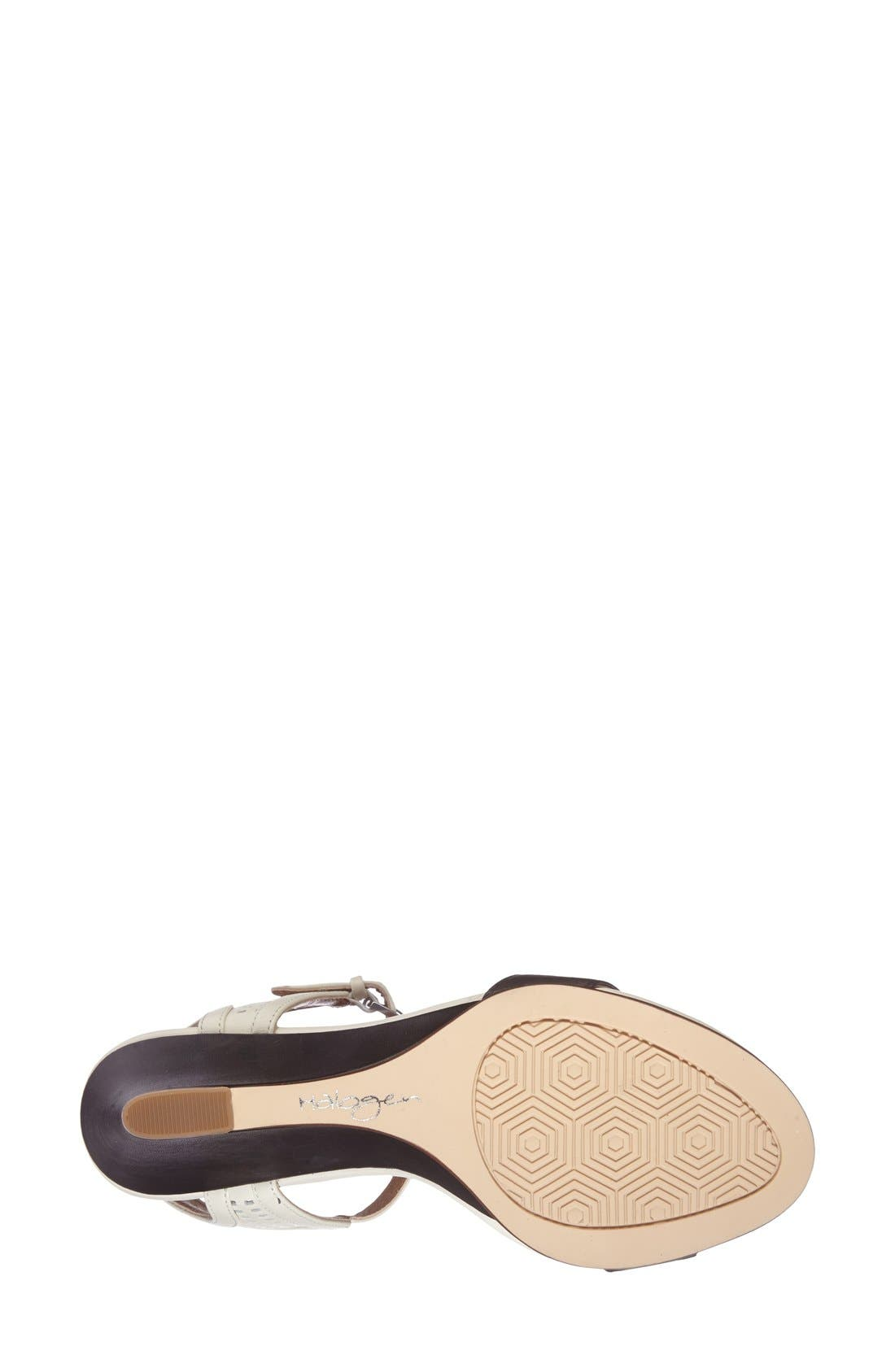 Alternate Image 4  - Halogen 'Helen' Perforated Leather Ankle Strap Wedge Sandal (Women)