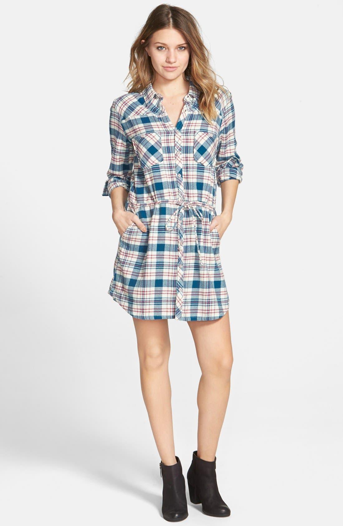 Alternate Image 1 Selected - Element 'Recess' Plaid Shirtdress
