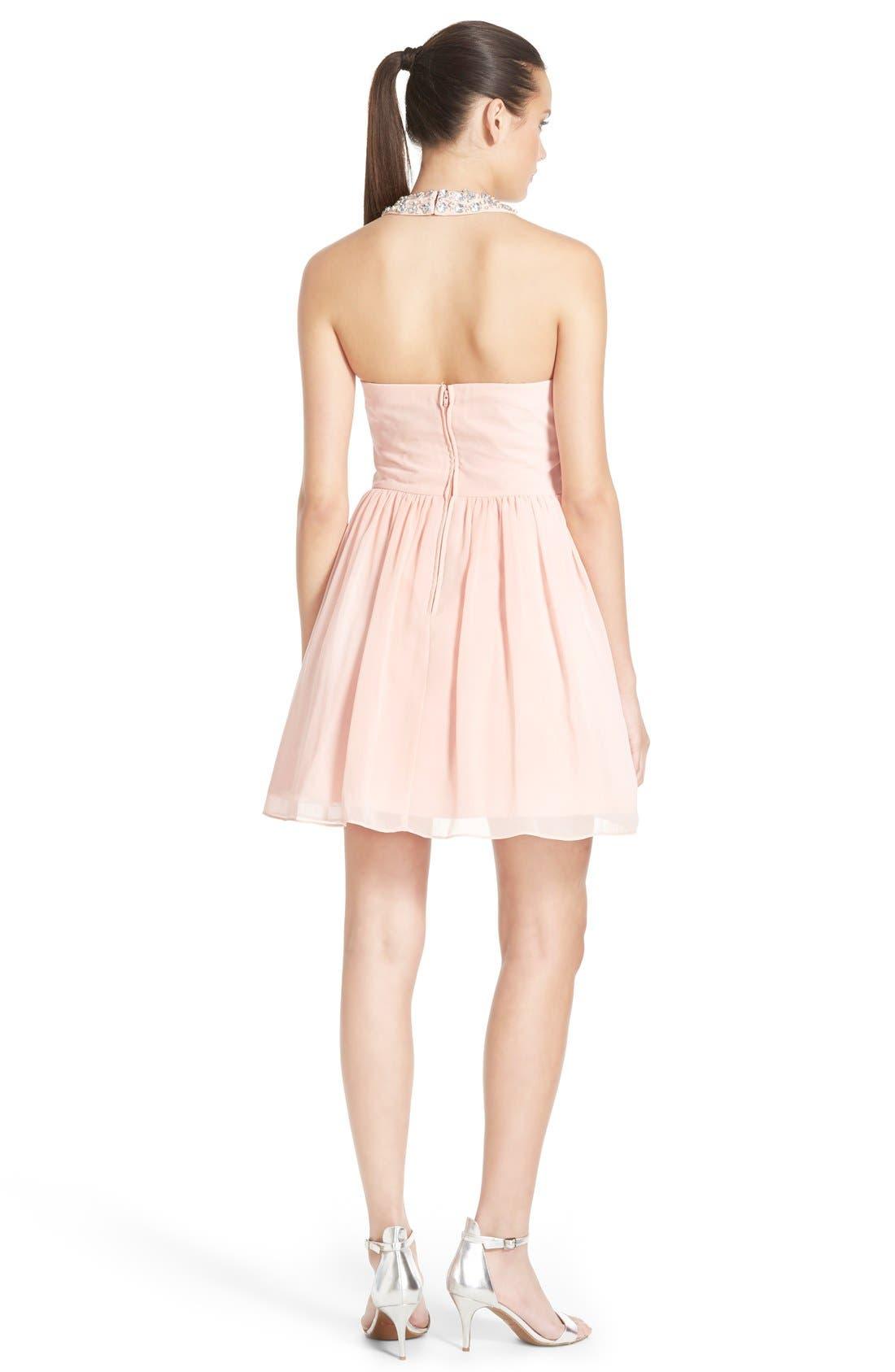 Alternate Image 2  - Way-In Embellished Halter Dress