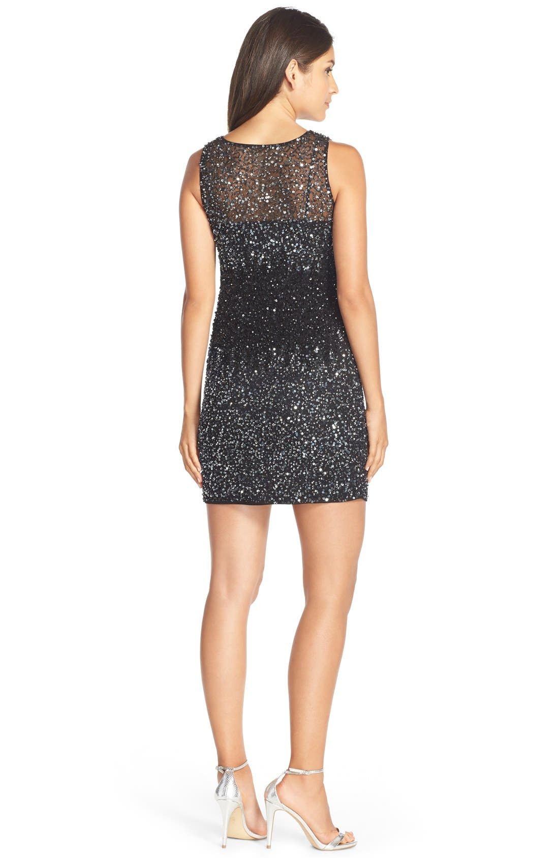 Alternate Image 2  - Adrianna Papell Embellished Mesh Dress