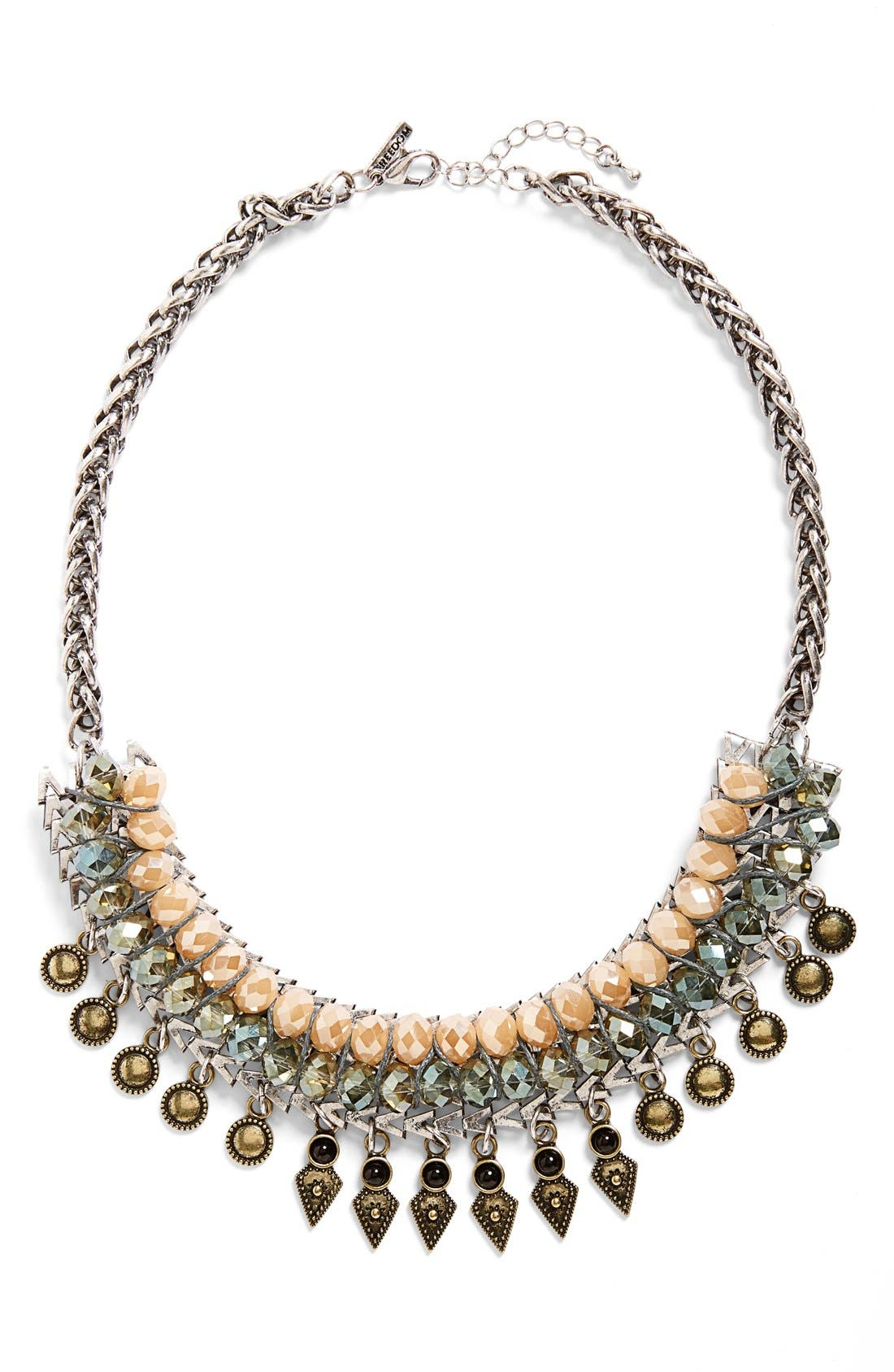 Main Image - Topshop Spike Statement Necklace
