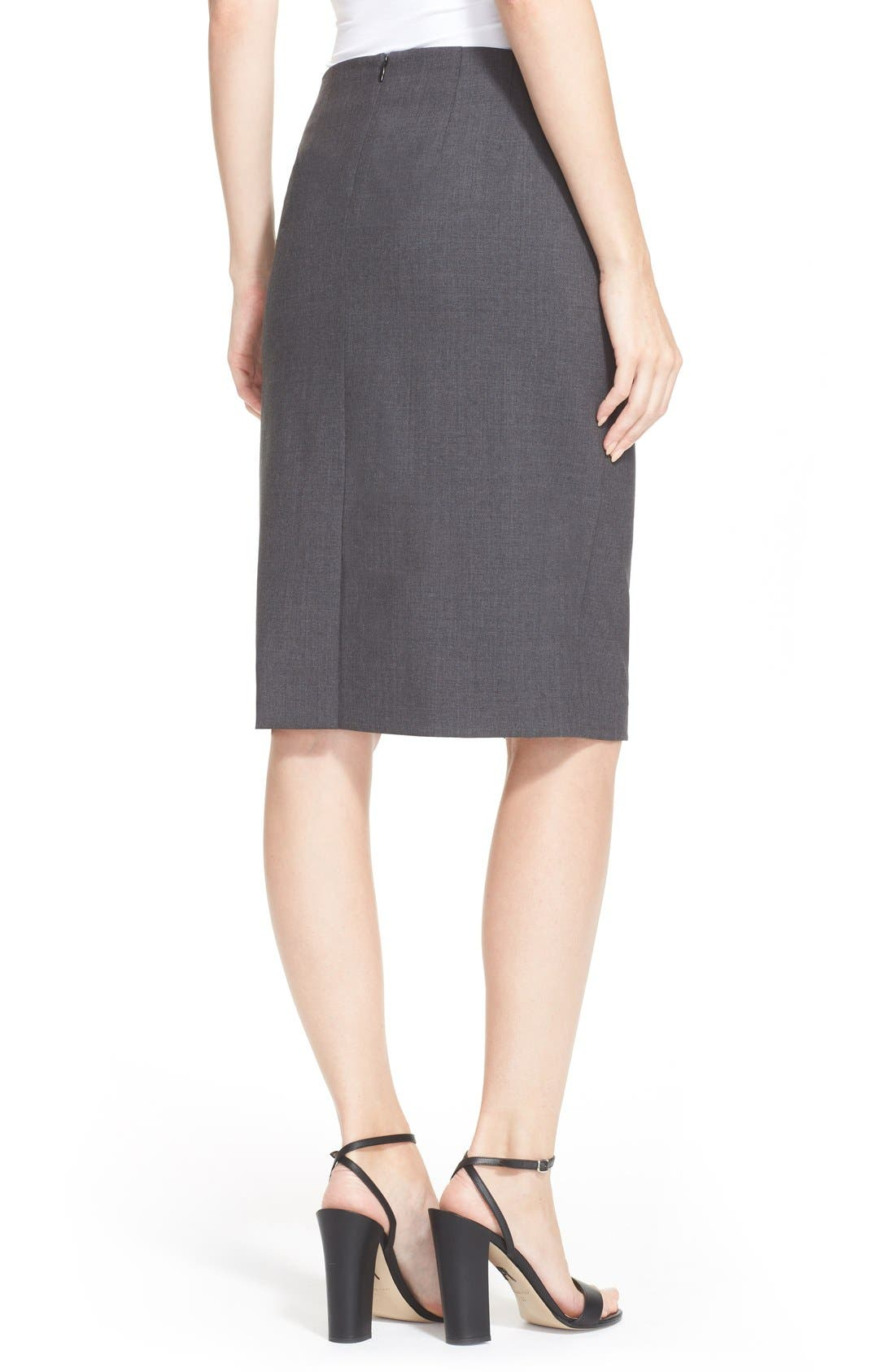 Alternate Image 2  - Theory Stretch Wool Pencil Skirt