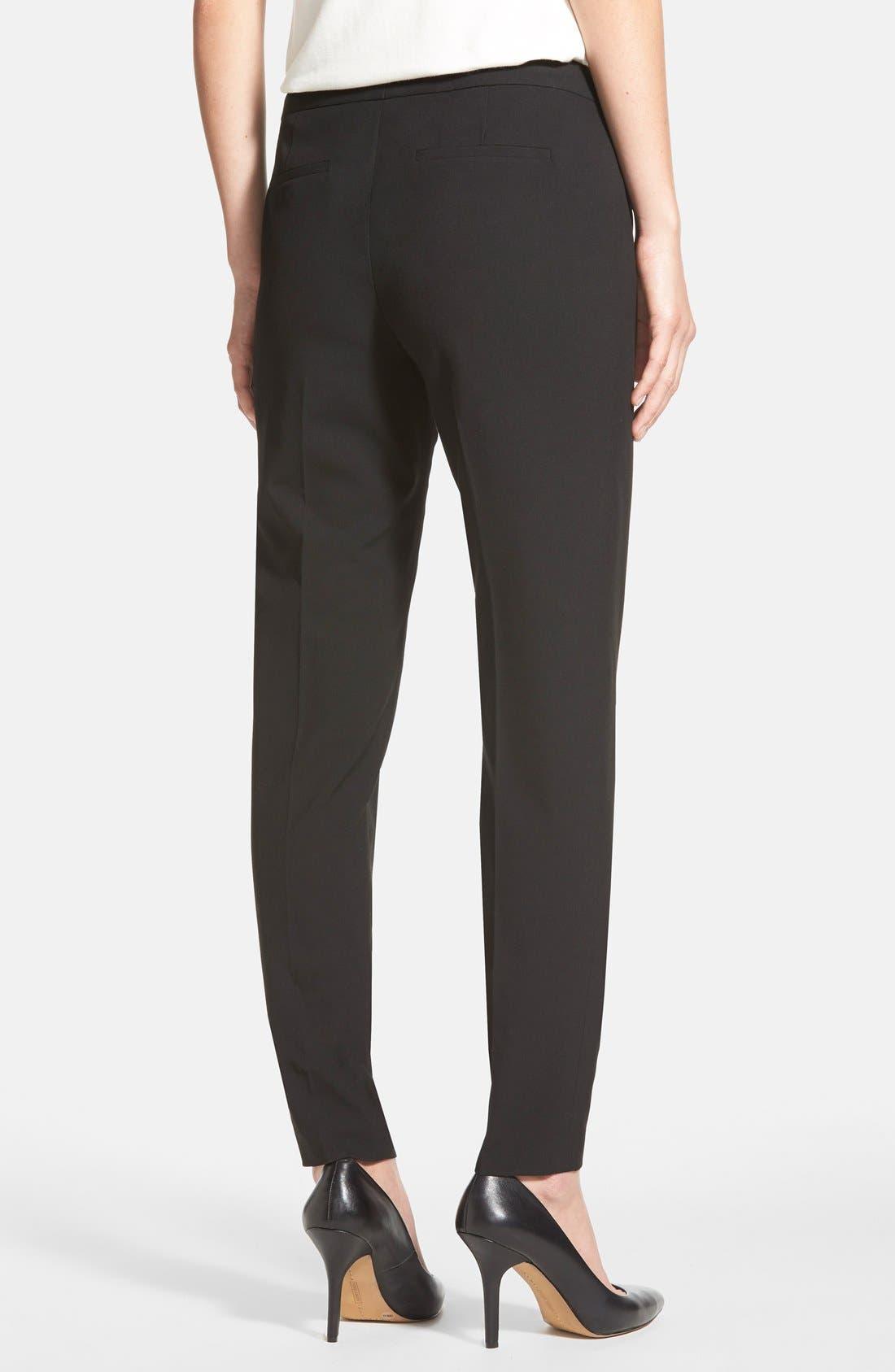 Alternate Image 2  - Halogen® 'Taylor' Ankle Skinny Pants (Regular & Petite)
