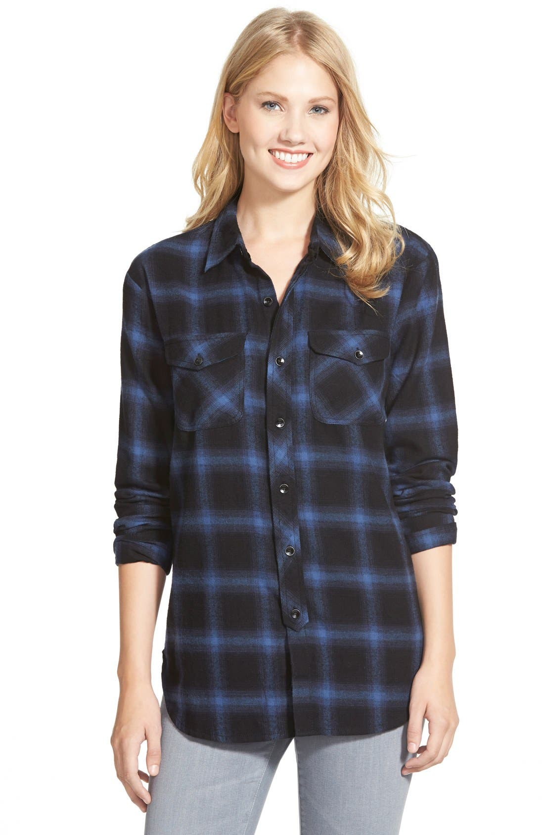 Alternate Image 1 Selected - Sandra Plaid Flannel Shirt