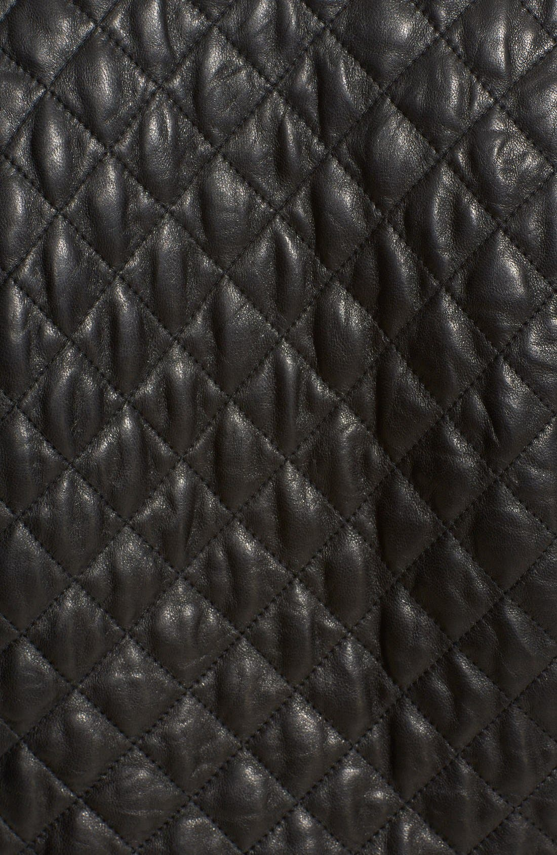 Alternate Image 3  - Eleventy Diamond Quilted Leather Jacket
