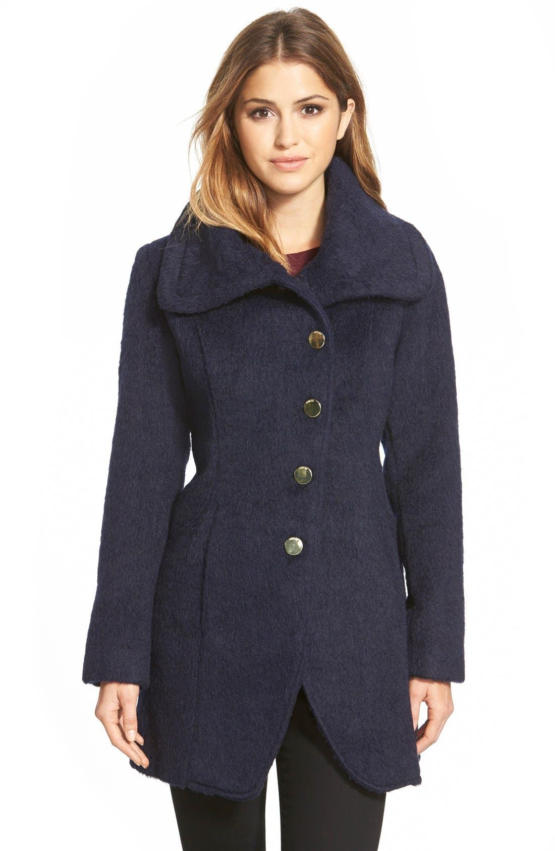 Main Image - GUESS Asymmetrical Cutaway Coat