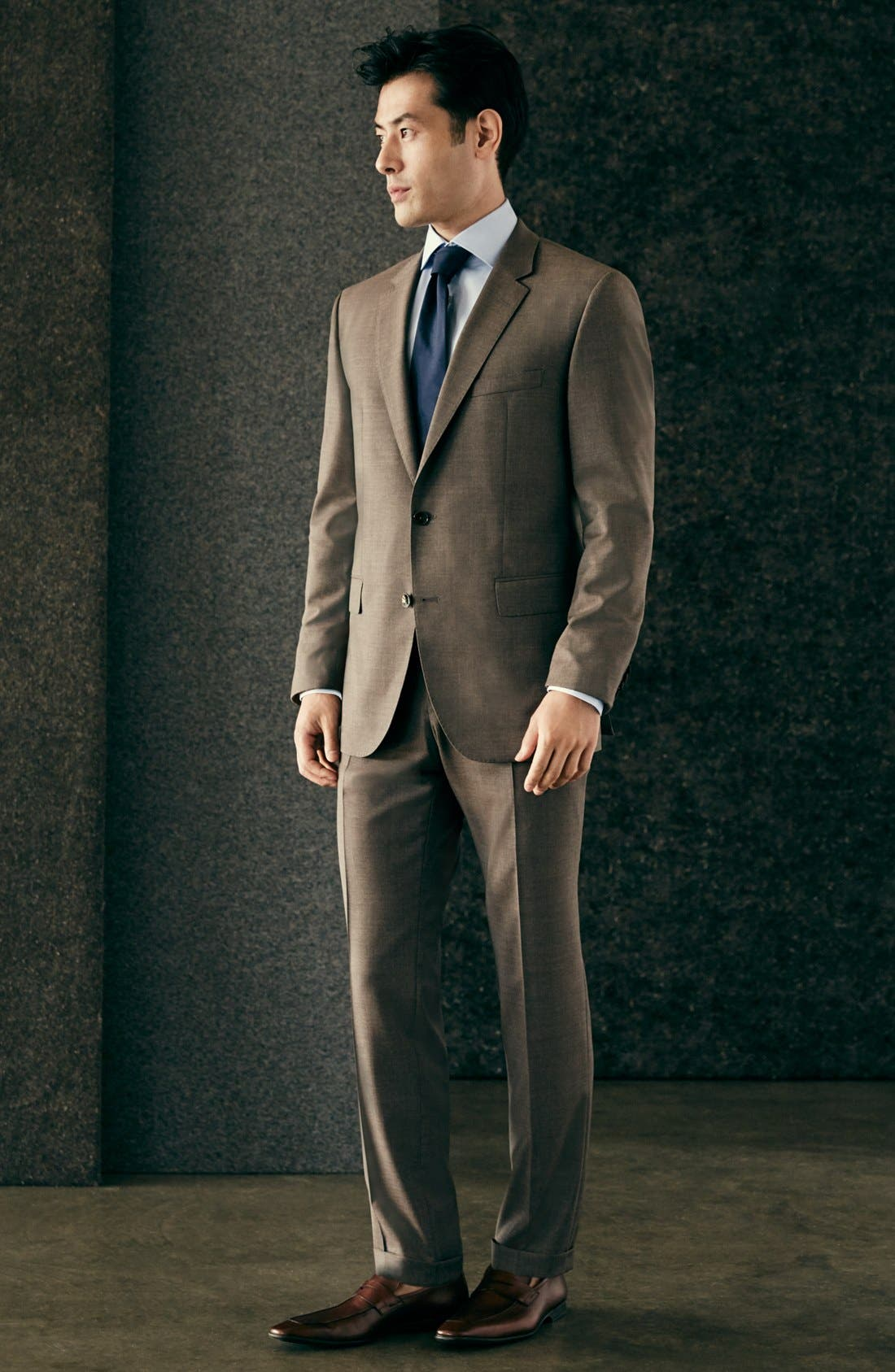 Alternate Image 6  - BOSS 'Johnstons/Lenon' Trim Fit Solid Wool Suit