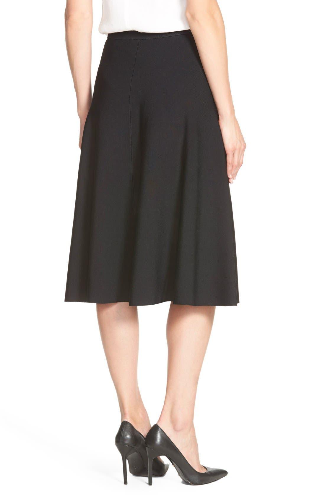 Alternate Image 2  - Halogen® Flare Midi Skirt (Regular & Petite)