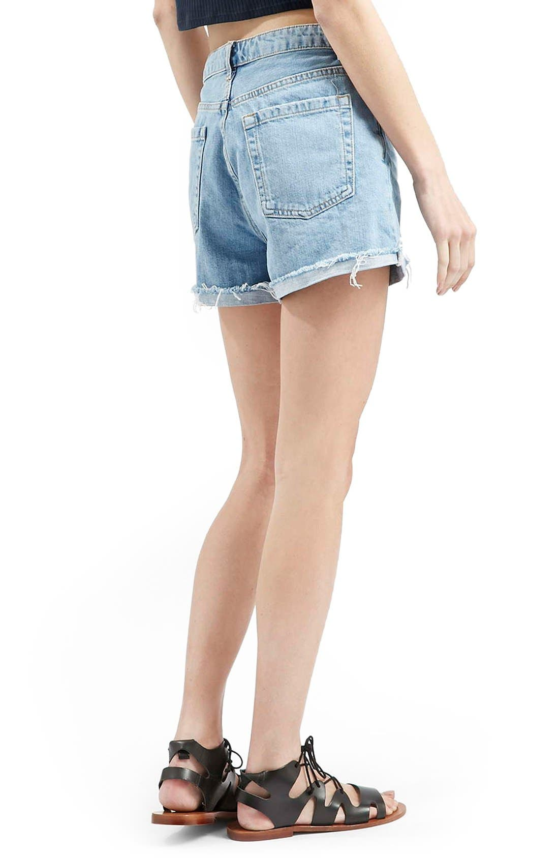 Alternate Image 3  - Topshop 'Girlfriend' Denim Shorts