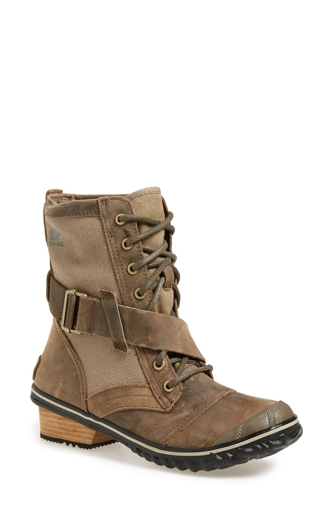 Alternate Image 1 Selected - SOREL 'Slimboot™' Waterproof Lace-Up Boot (Women)