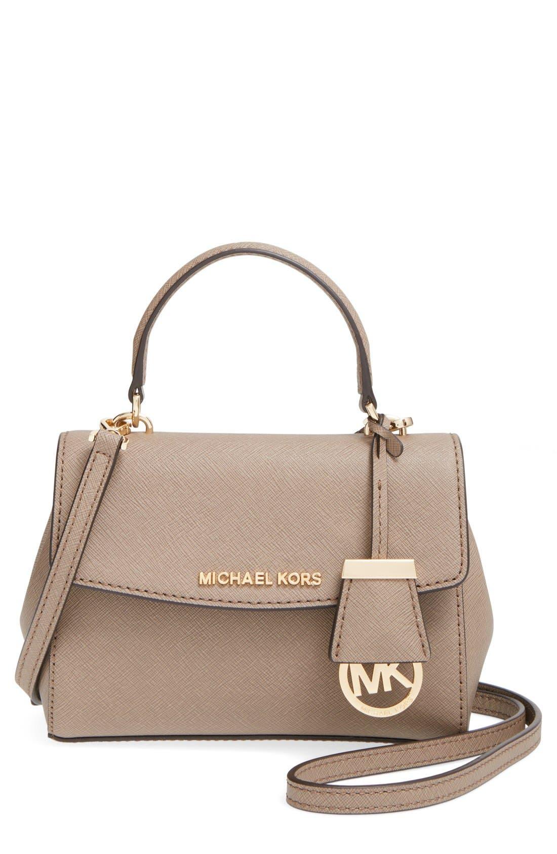 Main Image - MICHAEL Michael Kors 'Extra Small Ava' Leather Crossbody Bag
