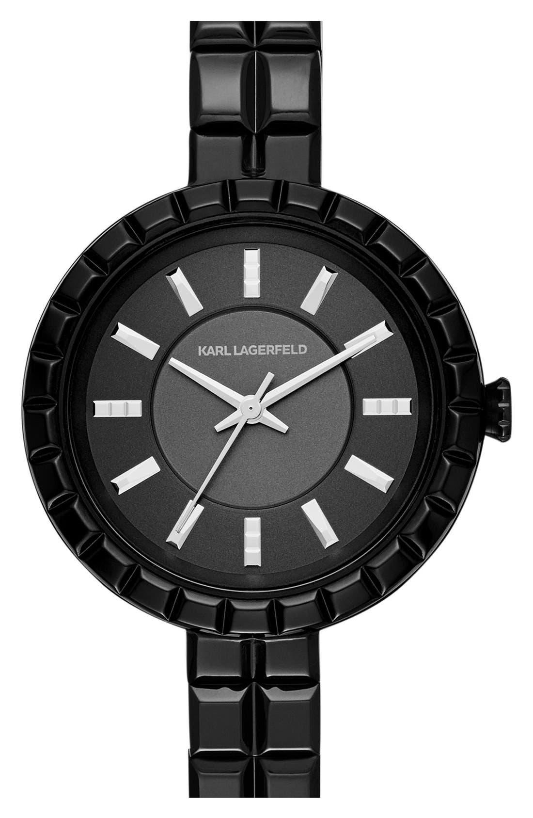 Main Image - Karl Lagerfeld 'Geometrik' Bracelet Watch, 34mm