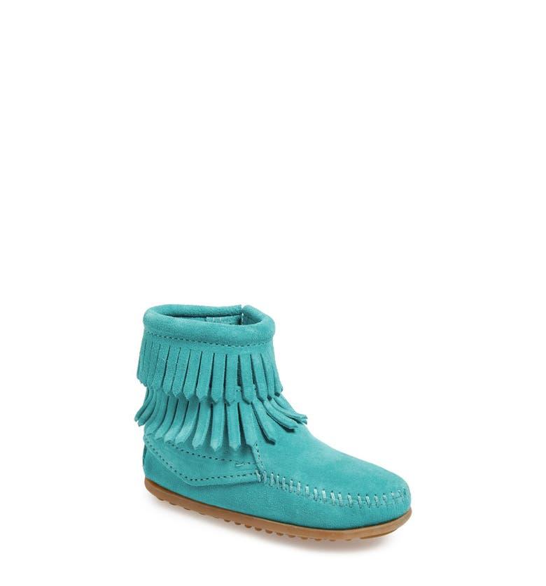 Minnetonka Double Fringe Boot Walker Toddler Little