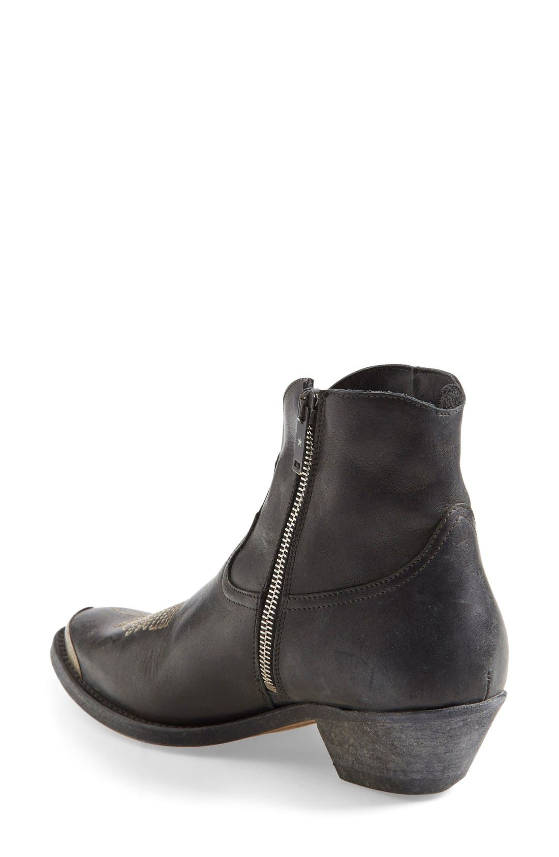 Alternate Image 2  - Golden Goose Pointy Toe Western Boot (Women)