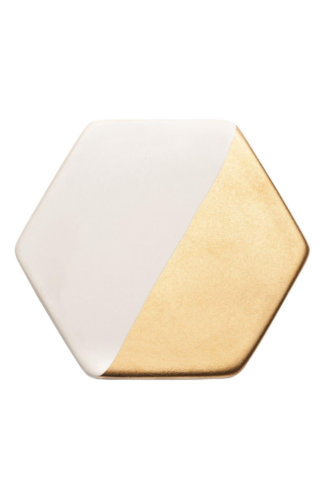 Alternate Image 2  - zestt 'Hampton' Gilded Ceramic Coasters (Set of 4)