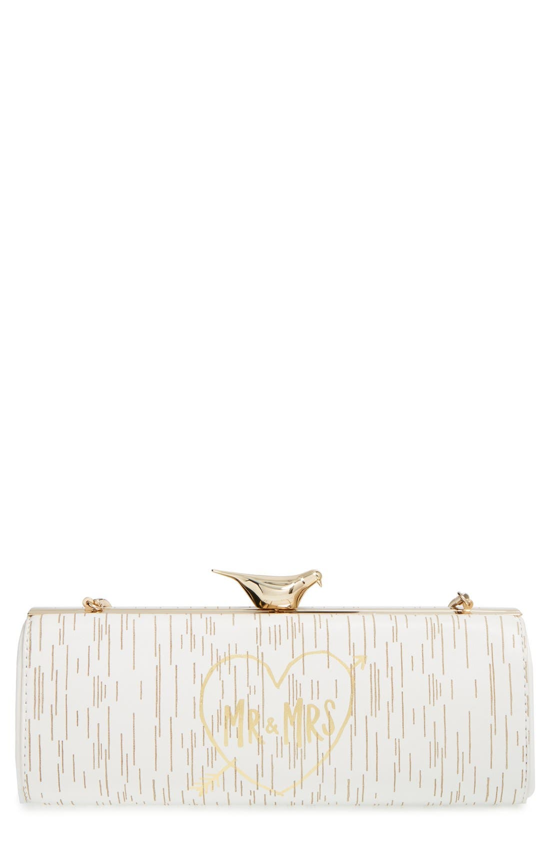 Main Image - kate spade new york 'wedding belles - mr. & mrs.' clutch