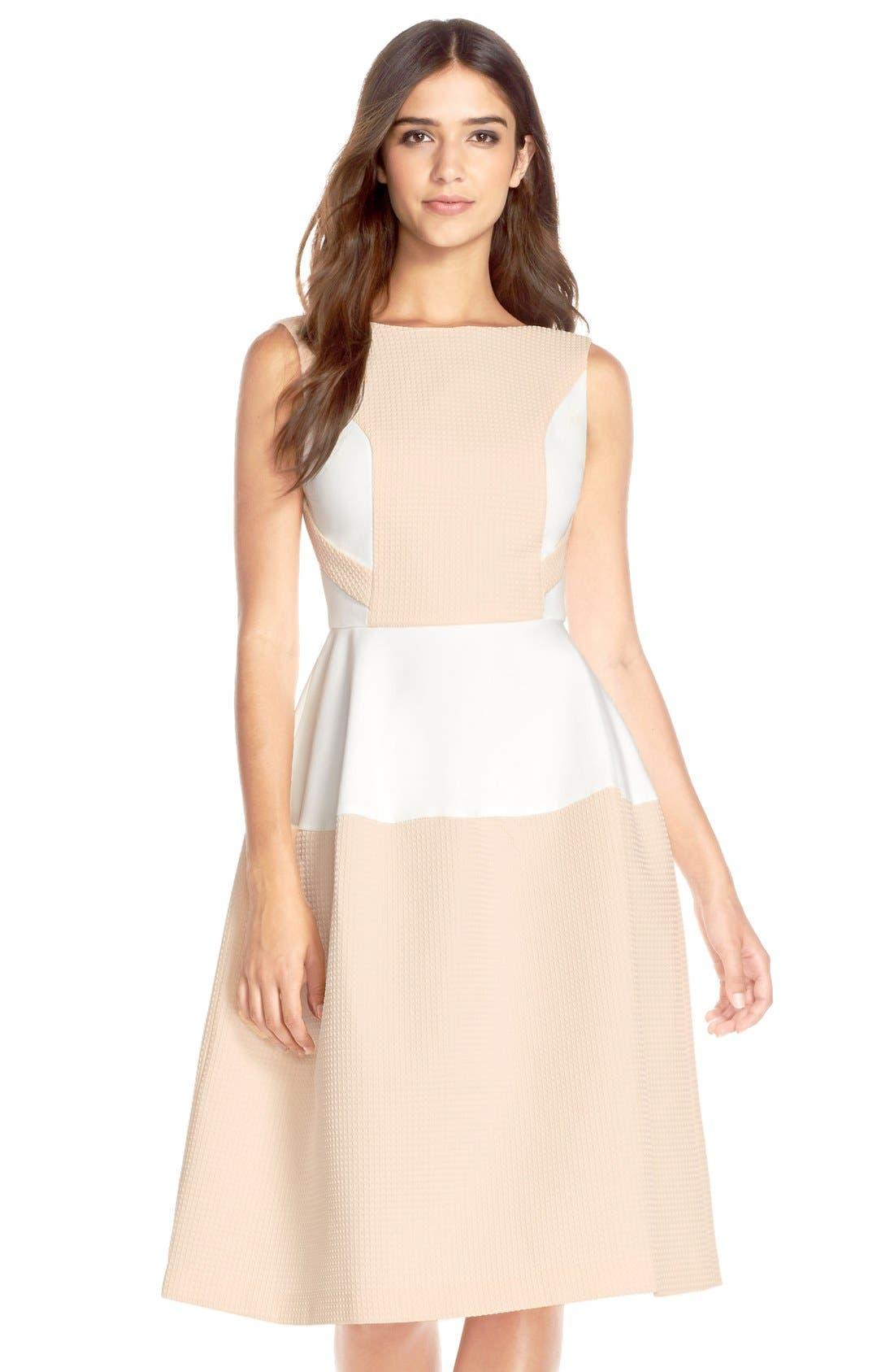 Main Image - Elliatt'Perception' Texture PonteFit & Flare Dress