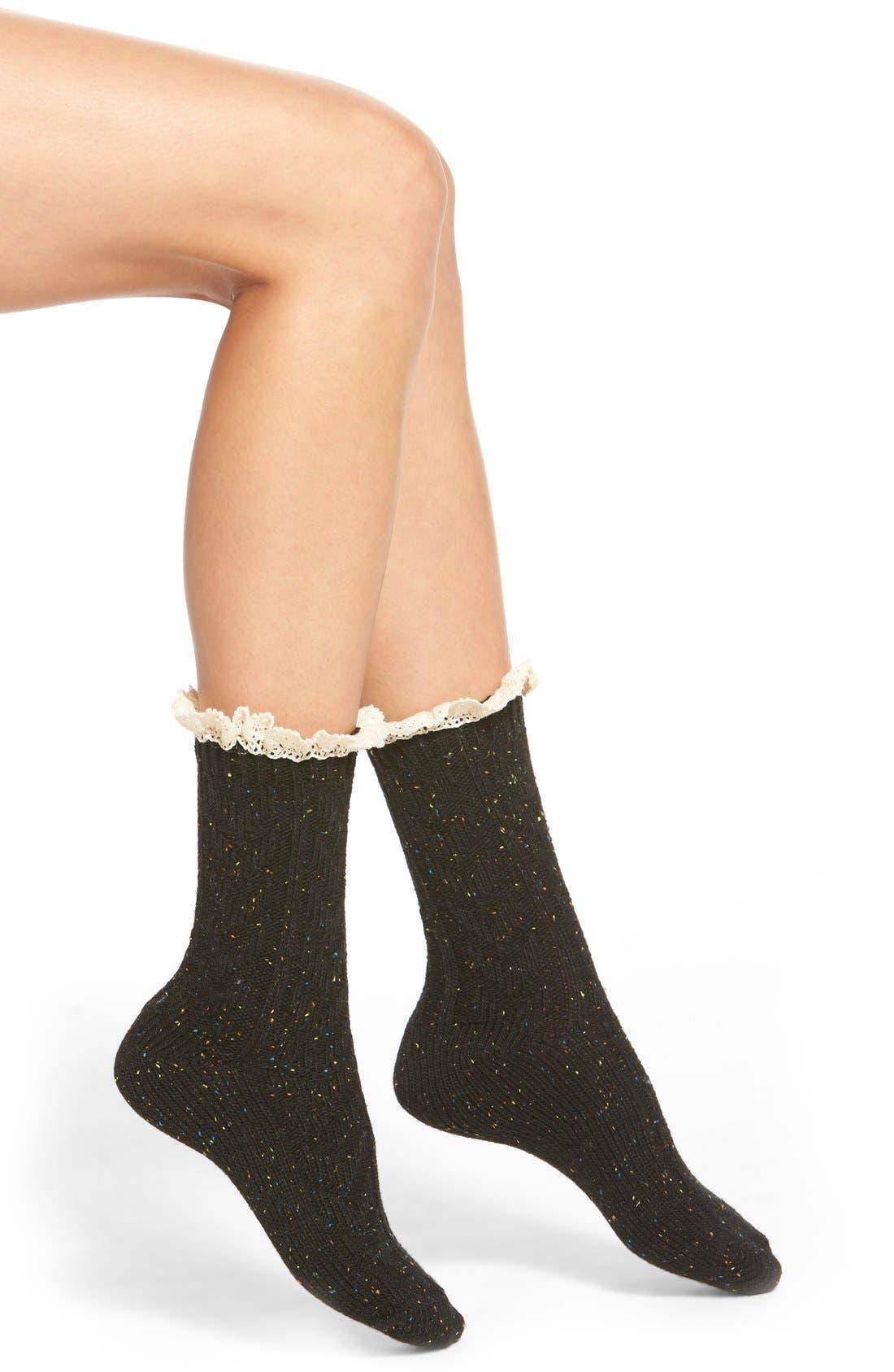 Main Image - Free People 'Highlands' Marled Boot Socks