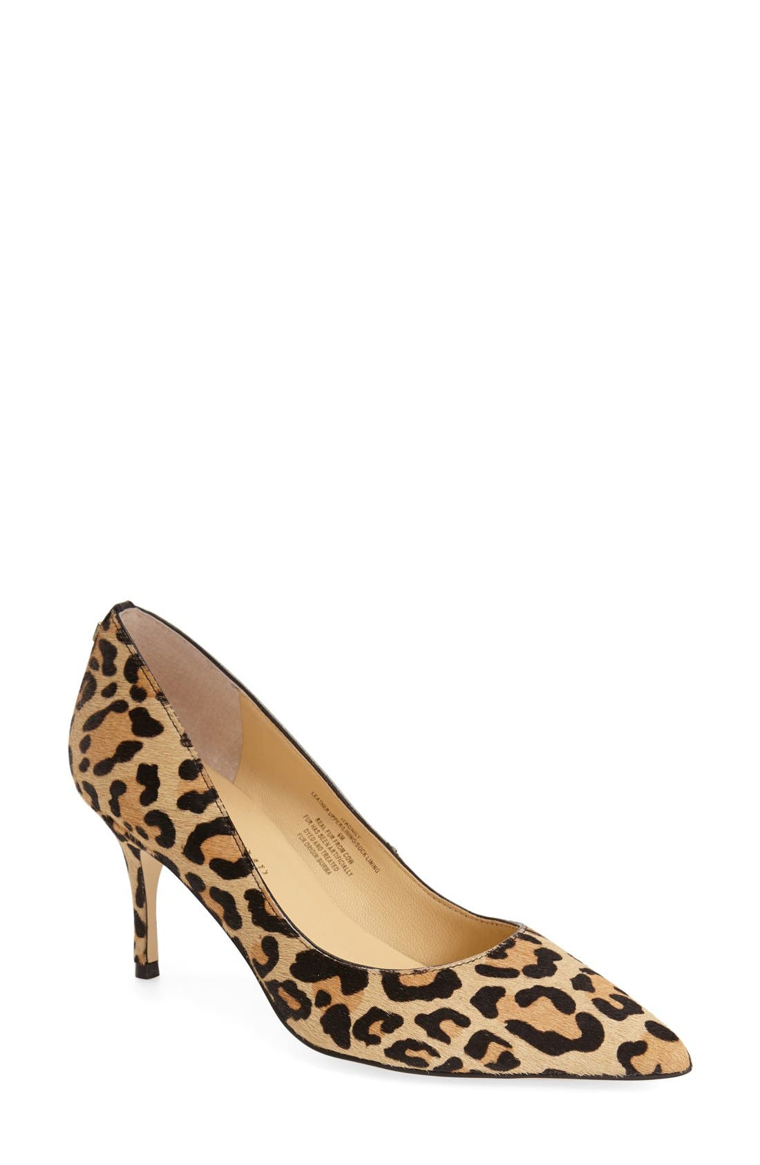Alternate Image 1 Selected - Ivanka Trump 'Boni' Calf Hair Pointy Toe Pump (Women)
