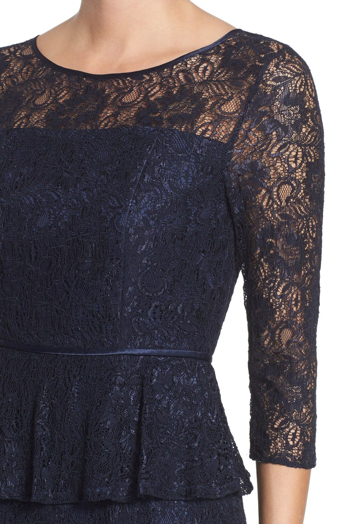 Alternate Image 5  - Adrianna Papell Peplum Lace Sheath Dress (Nordstrom Exclusive)