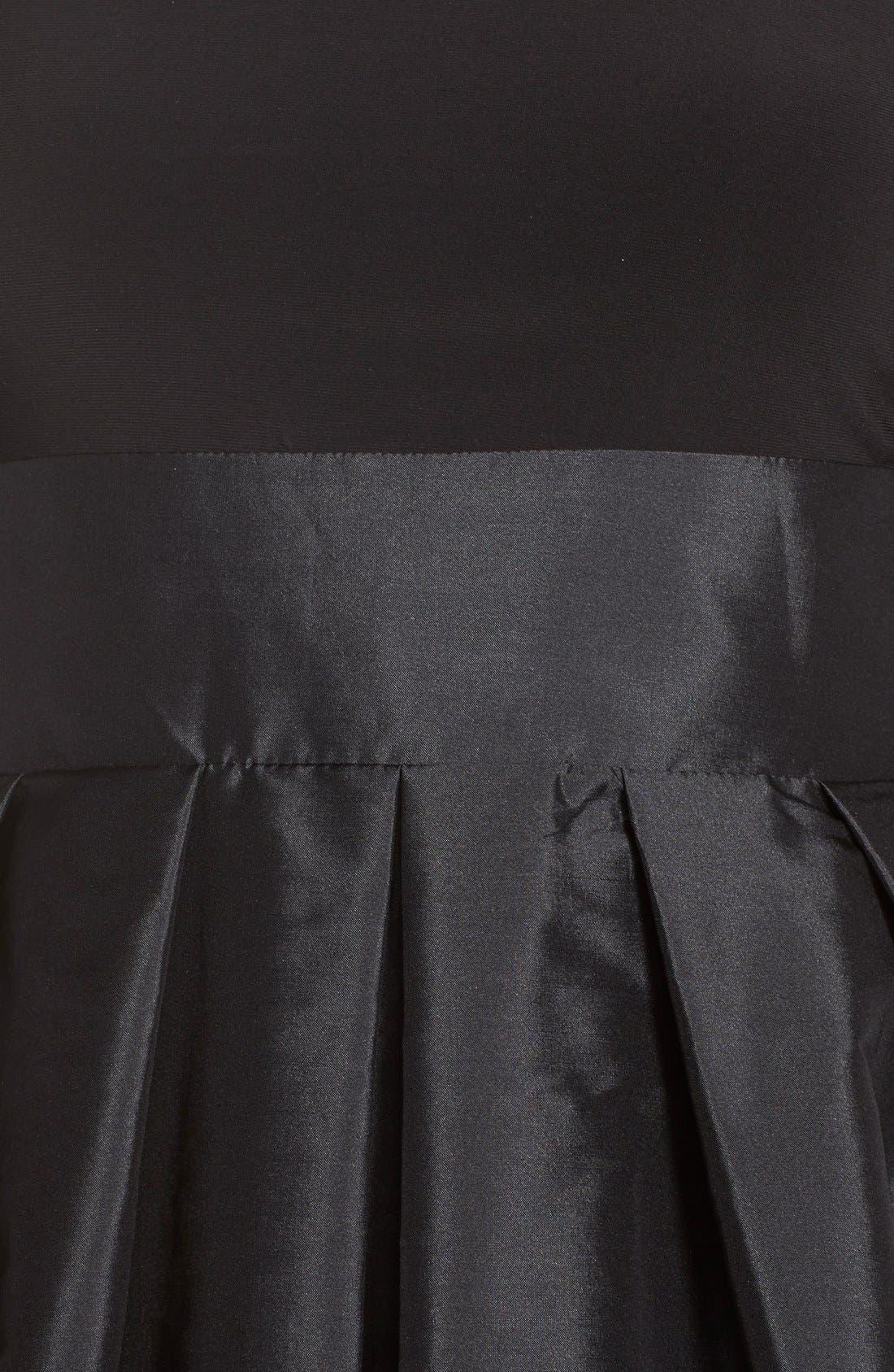 Alternate Image 6  - Adrianna PapellBow Taffeta Fit & Flare Dress (Regular & Petite)