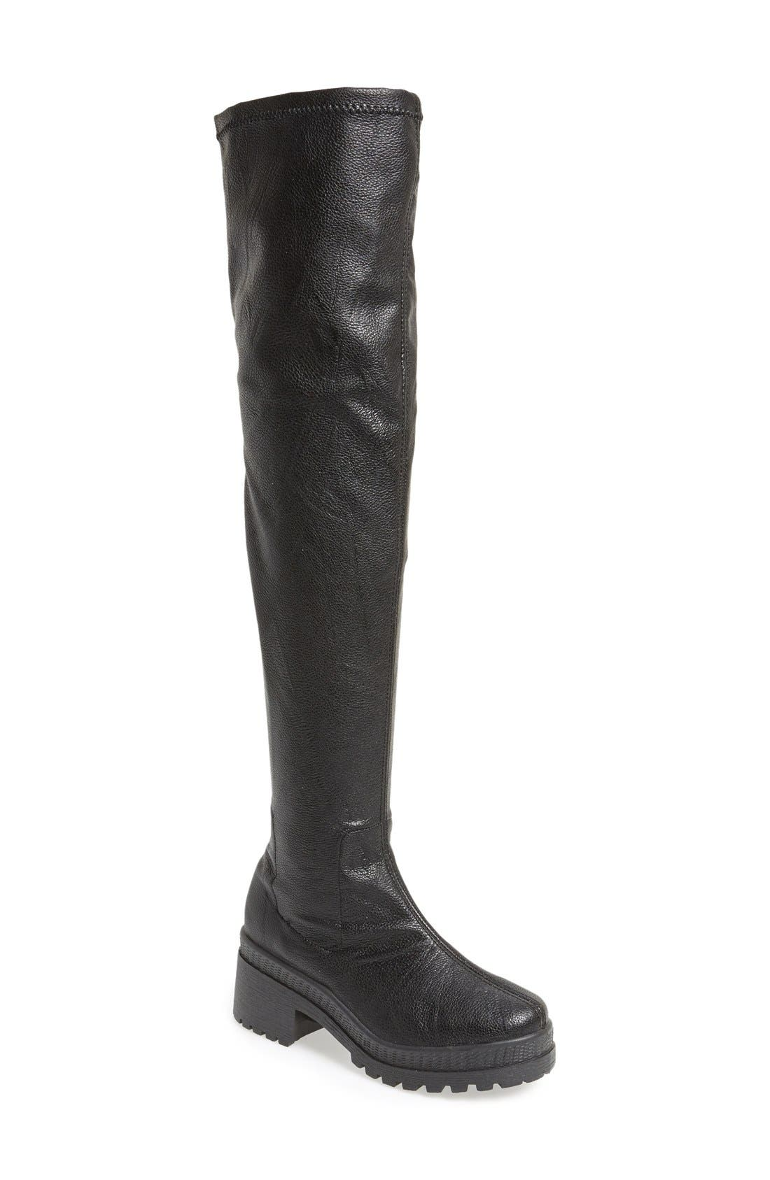 Topshop'Danger' Stretch Over the Knee Boot (Women)
