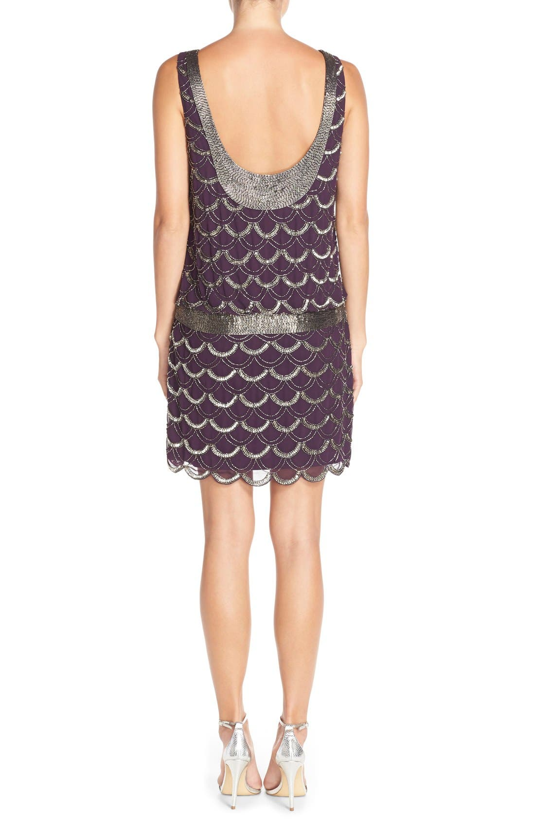 Alternate Image 2  - Adrianna Papell Beaded Chiffon Dress (Regular & Petite)