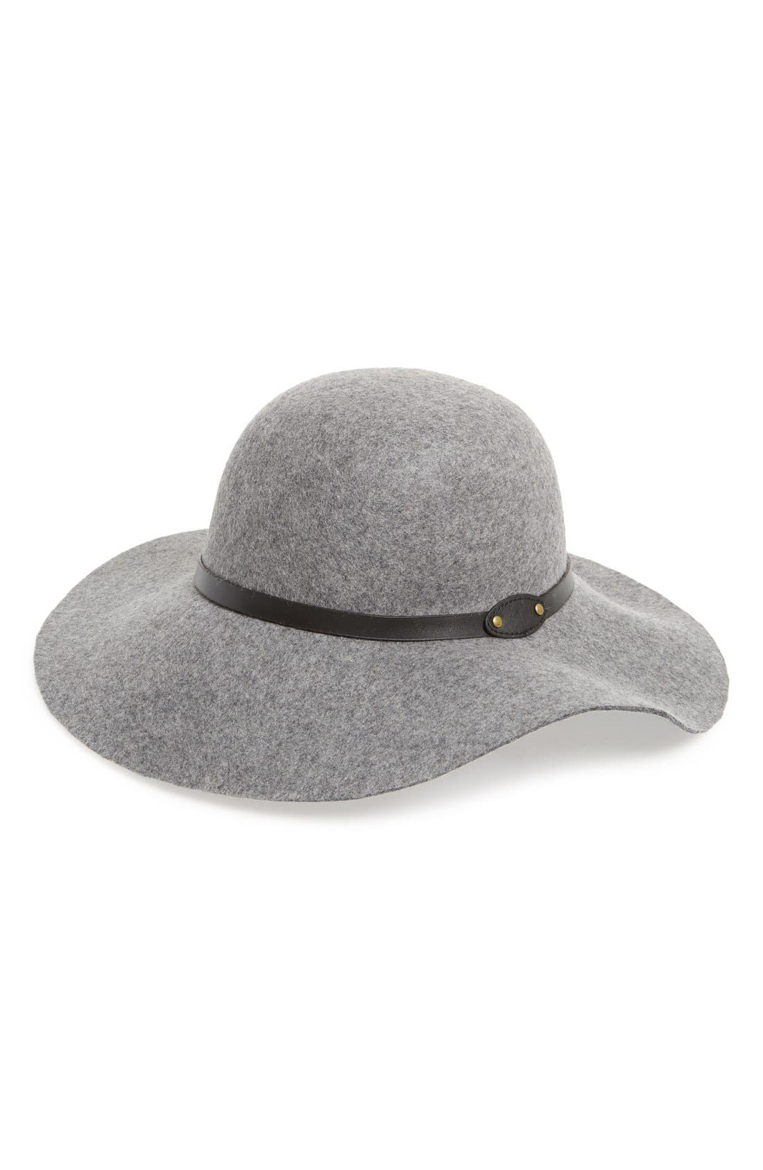 Main Image - David & Young Floppy Wool Hat