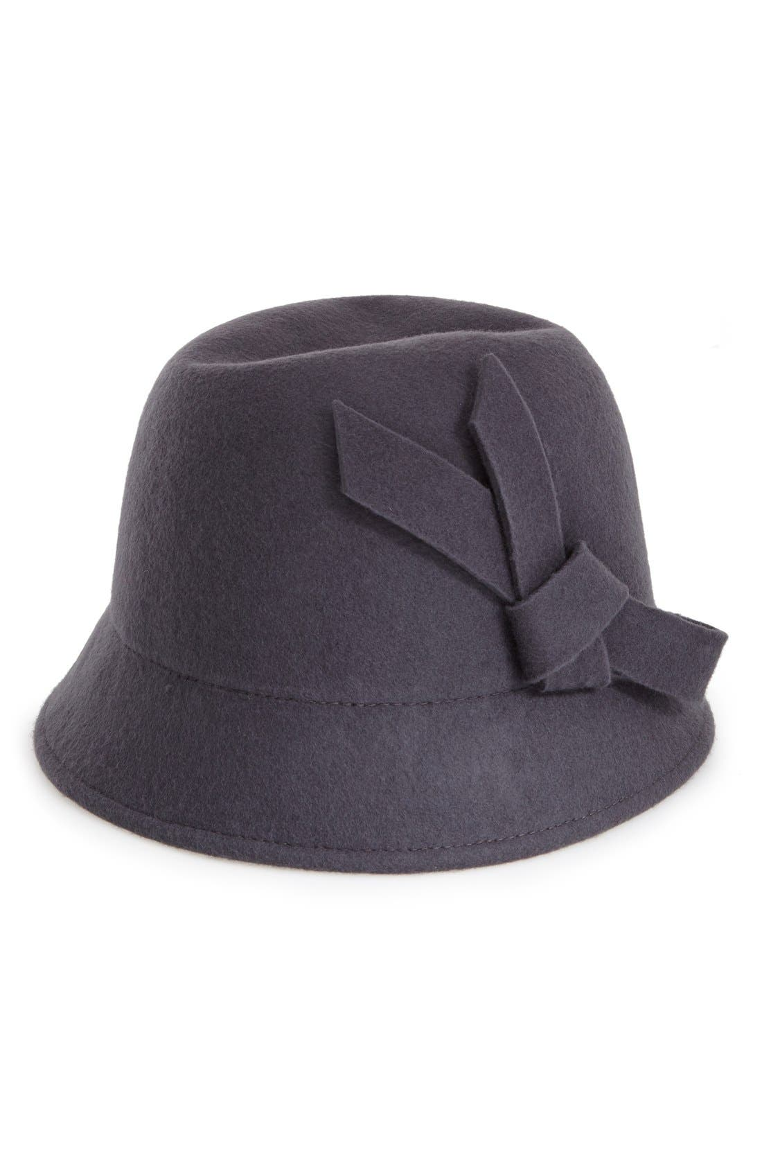 Main Image - Nordstrom Wool Bow Cloche