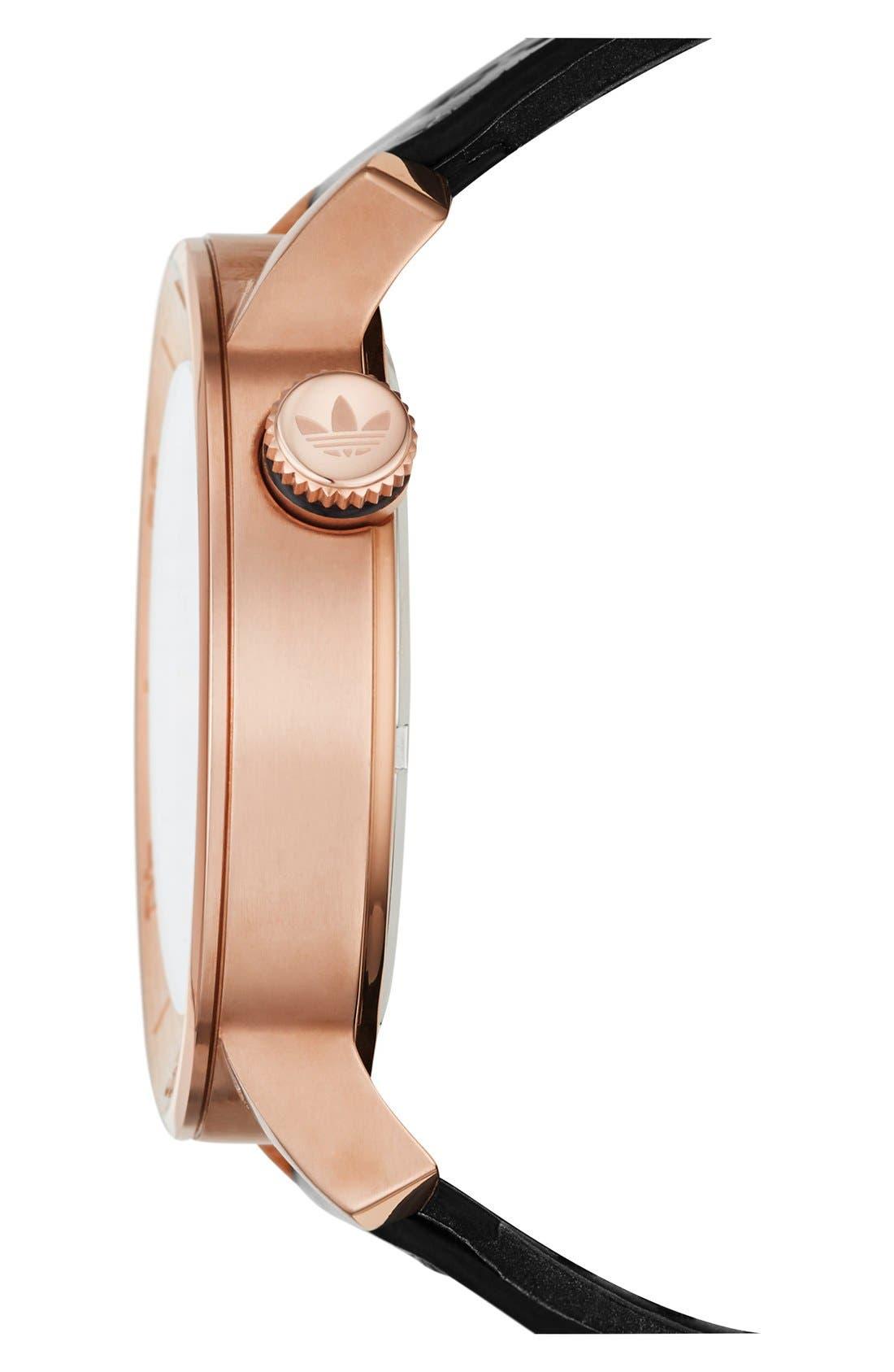 Alternate Image 2  - adidas Originals 'Manchester' Leather Strap Watch, 46mm