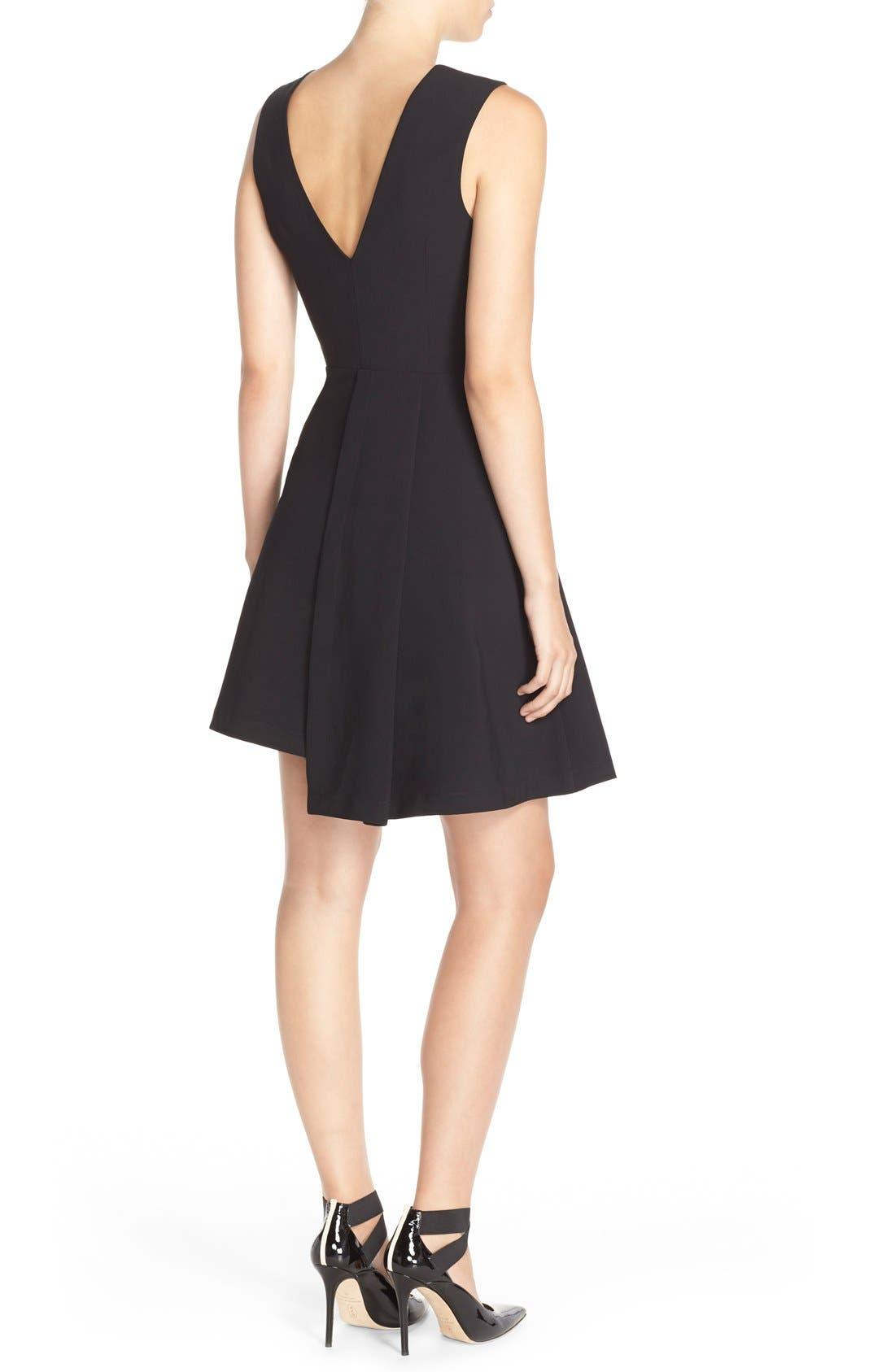 Alternate Image 2  - Adelyn Rae Asymmetrical Fit & Flare Dress